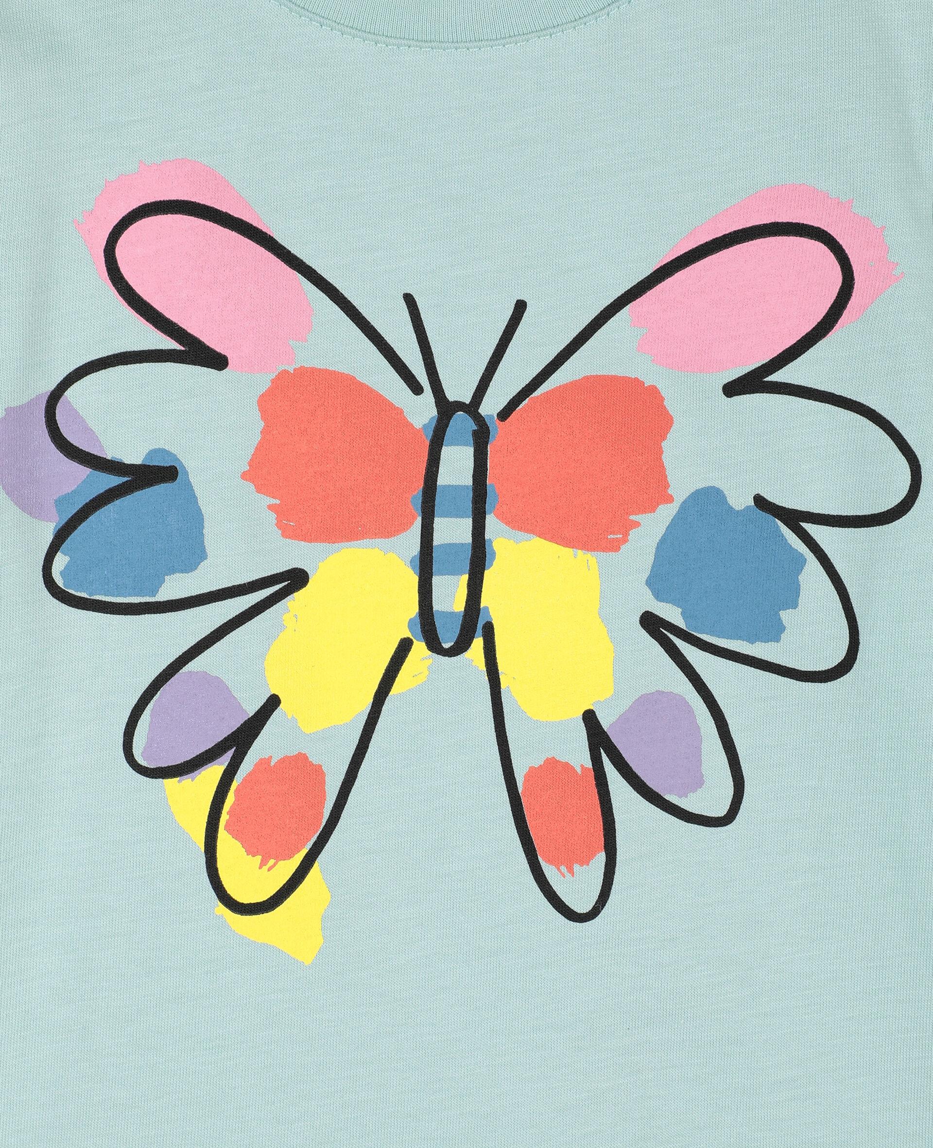 T-Shirt aus Baumwolle mit Schmetterling-Print-Grün-large image number 1