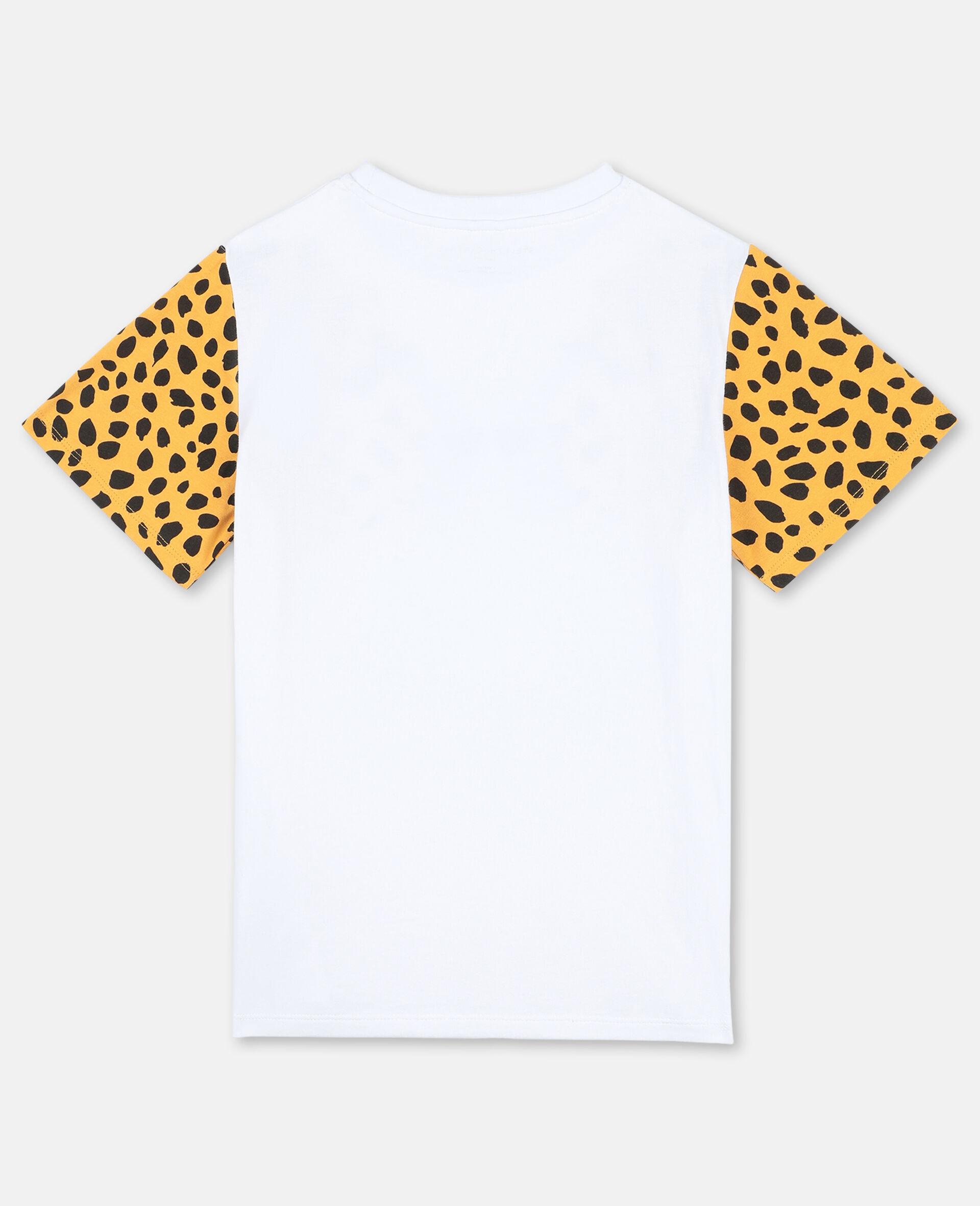 Baumwoll-T-Shirt mit Gepard-Print -Weiß-large image number 3
