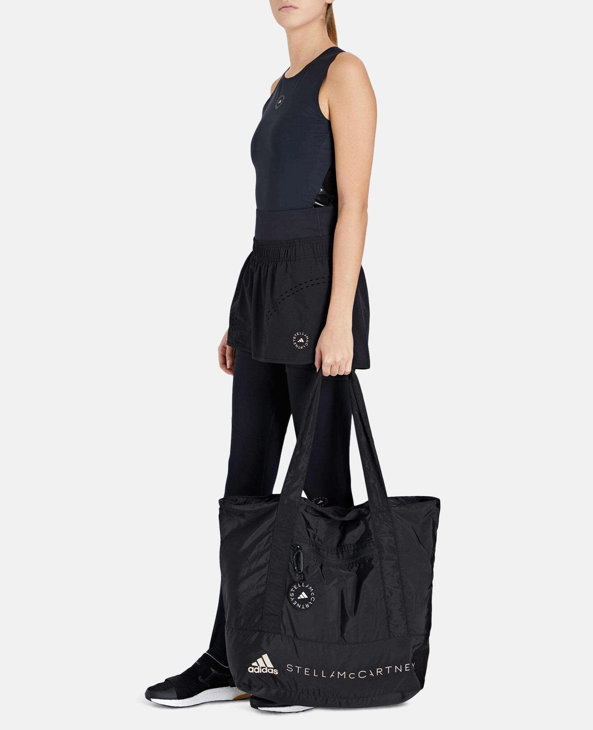 Black Printed Tote Bag -Black-large image number 3