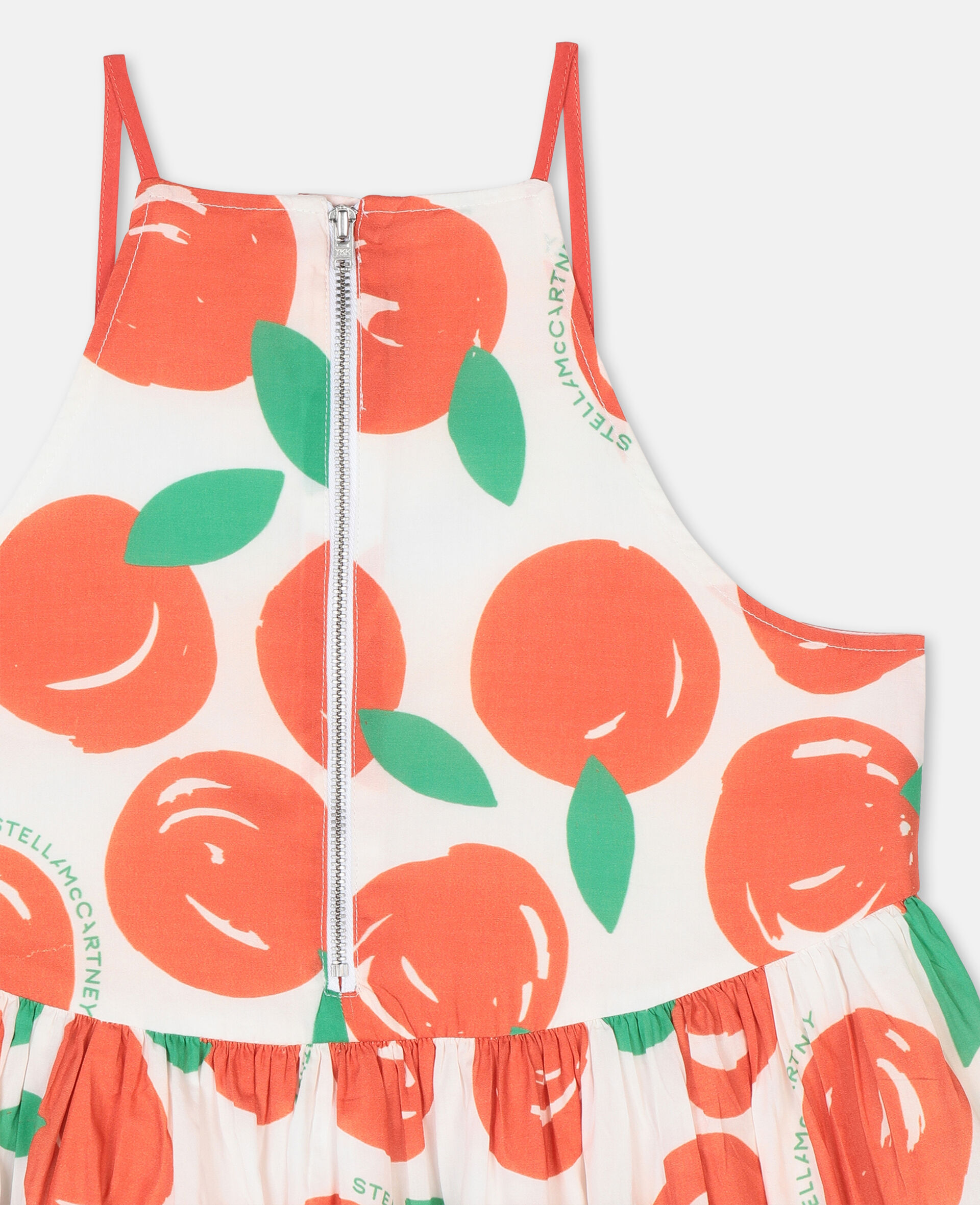 Clementines Cotton Dress-Red-large image number 2