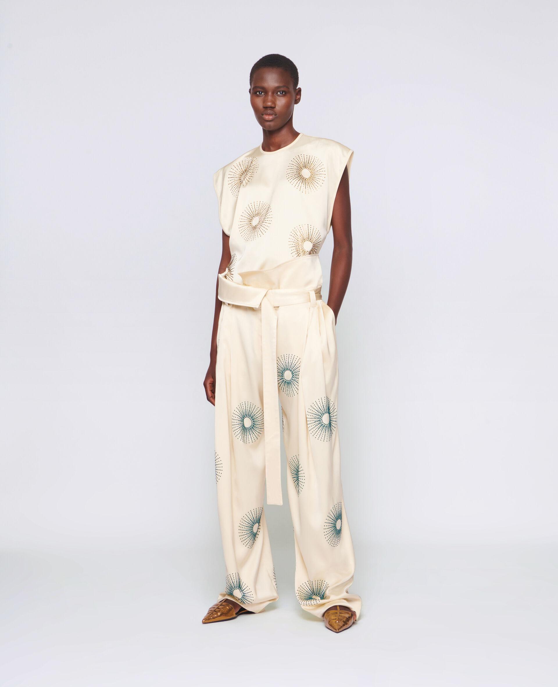 Elliana Hotfix Trousers-White-large image number 1