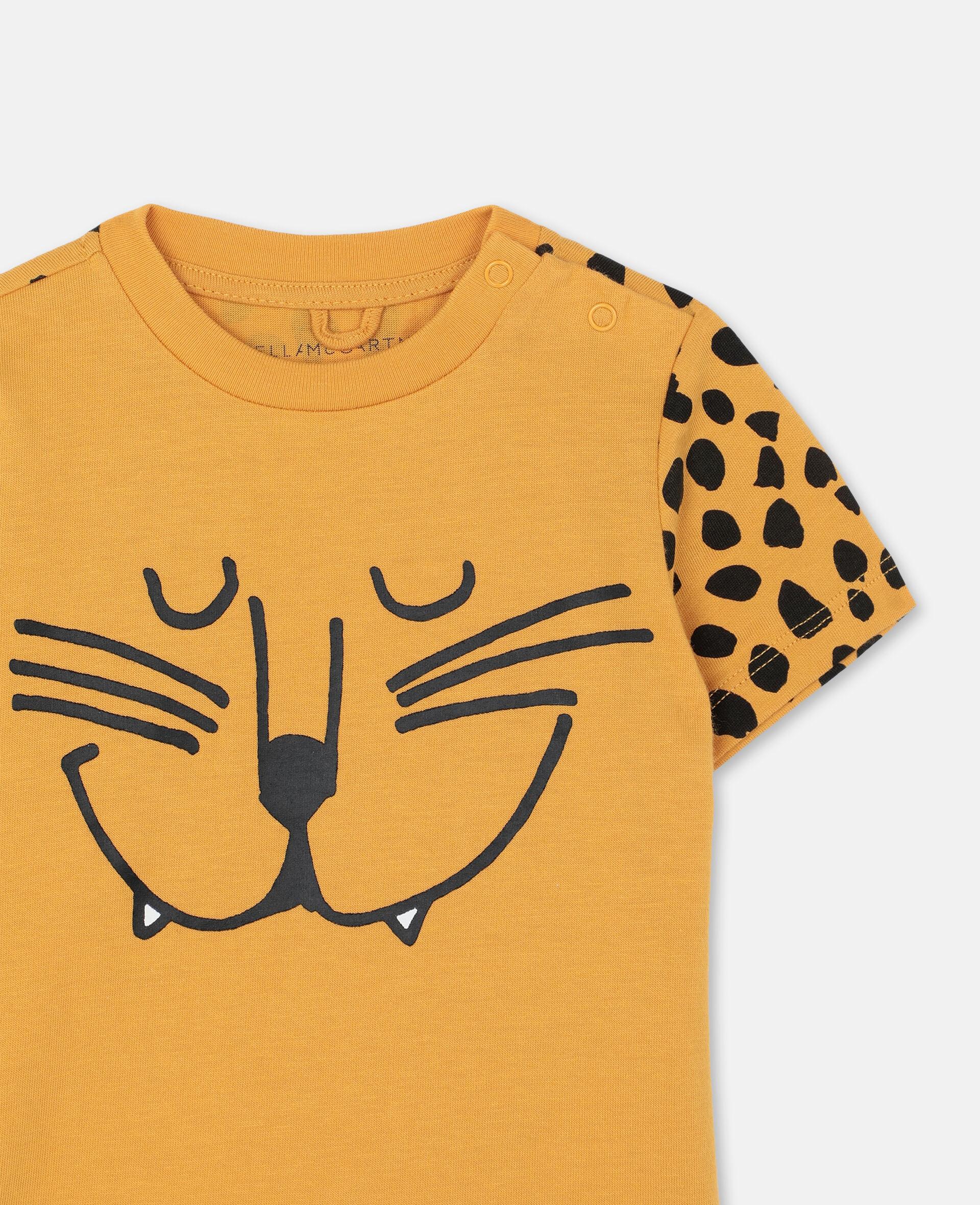 Cheetah Cotton T-shirt -Orange-large image number 1
