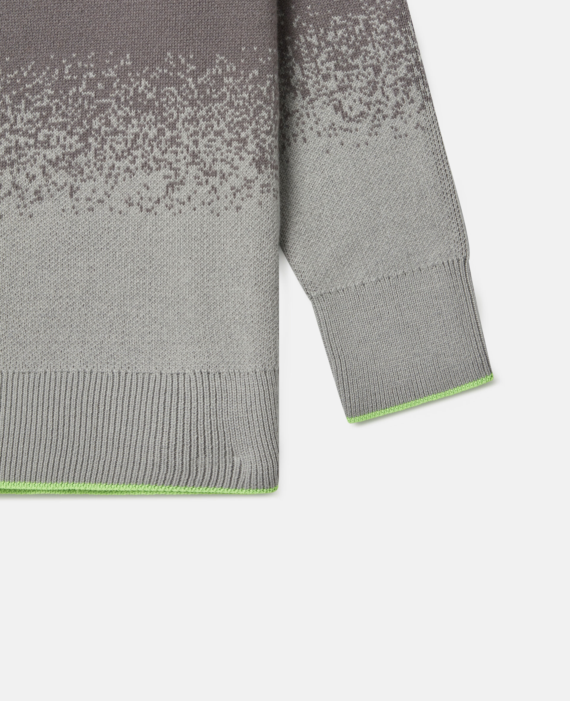 Spray Painted Effect Oversized Knit Jumper-Grey-large image number 2