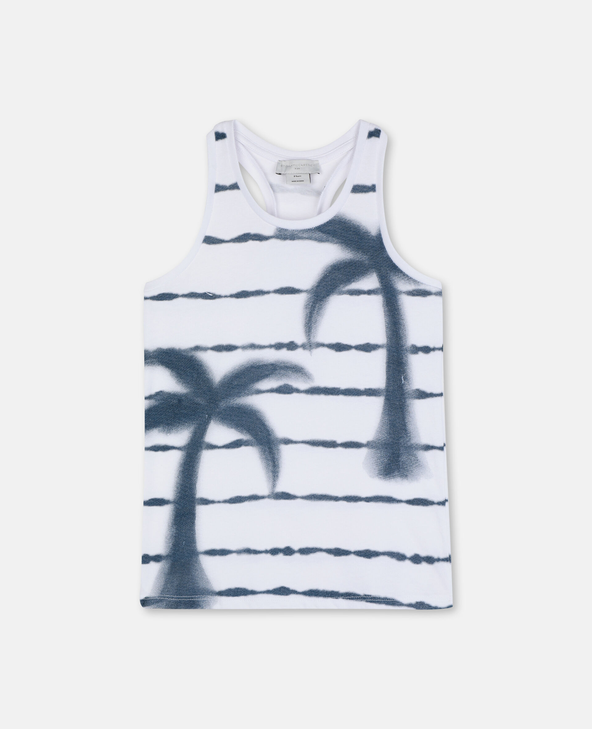 Palm Cotton Vest-White-large image number 0