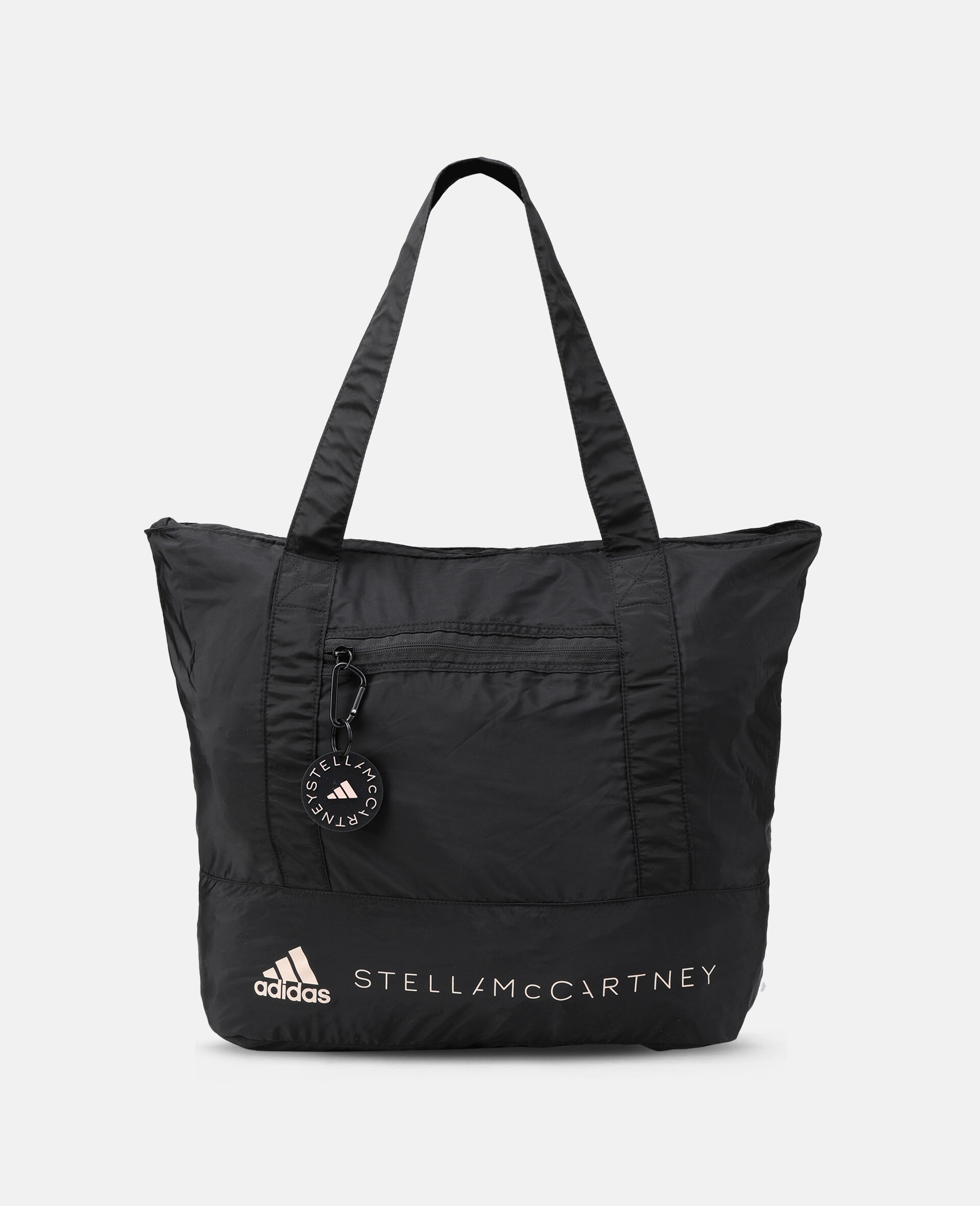 Black Printed Tote Bag -Black-large image number 0