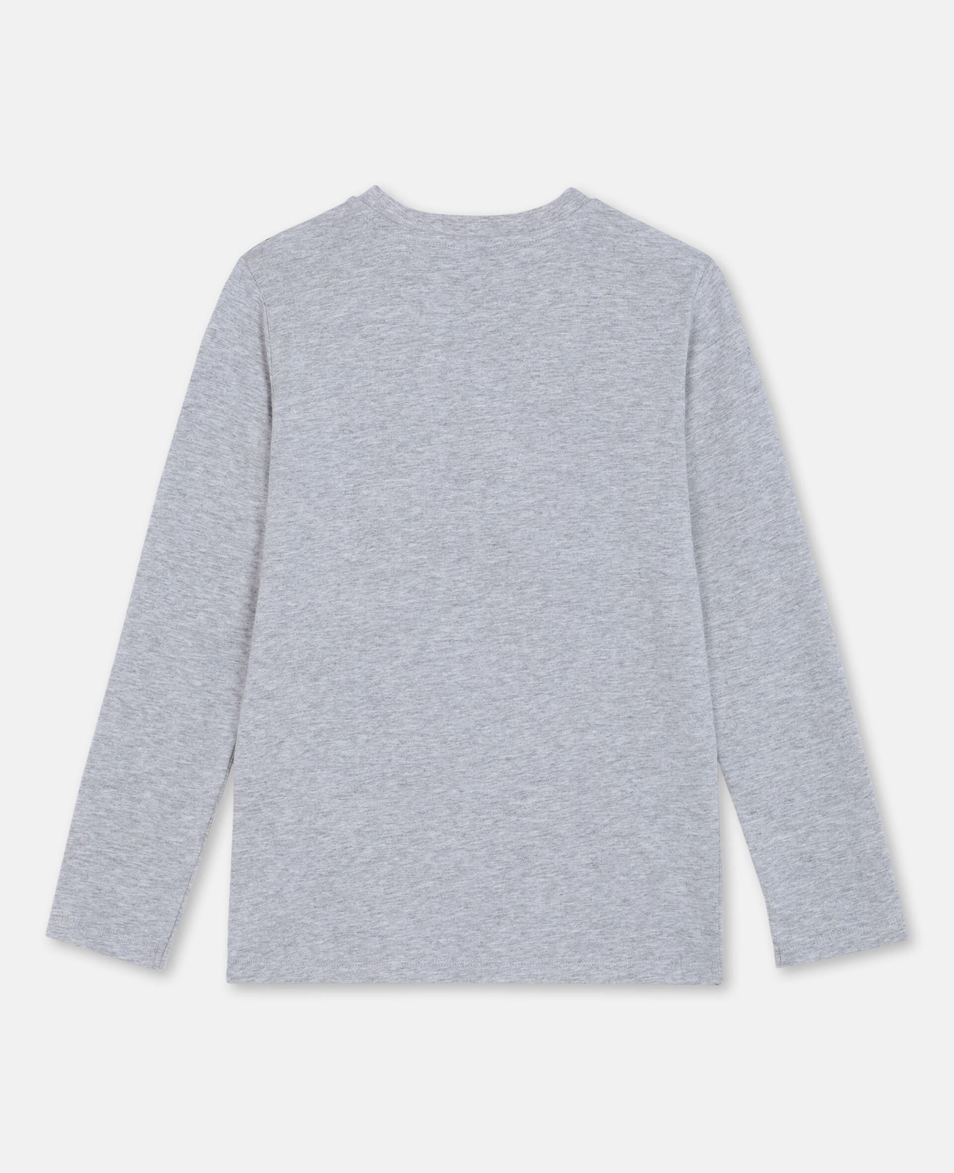 T-Shirt in Cotone con Binocolo 3D -Grigio-large image number 3