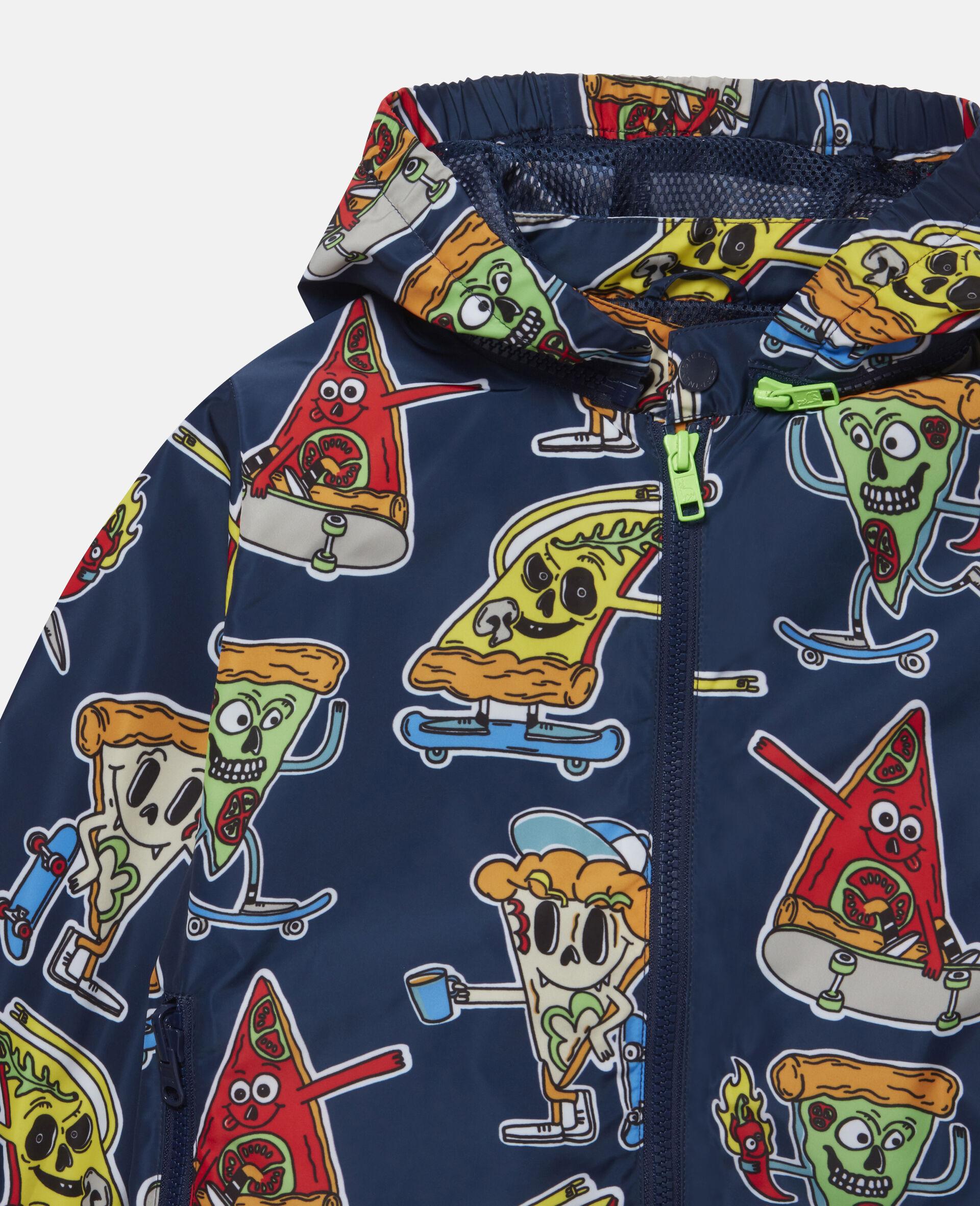 Jacke mit Pizza-Skater-Motiv -Blau-large image number 1