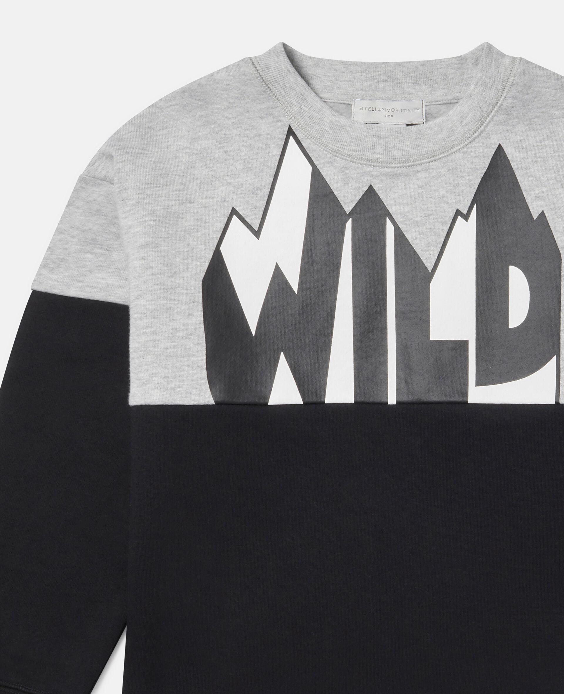 Oversized Wild Fleece Sweatshirt-Multicolour-large image number 1
