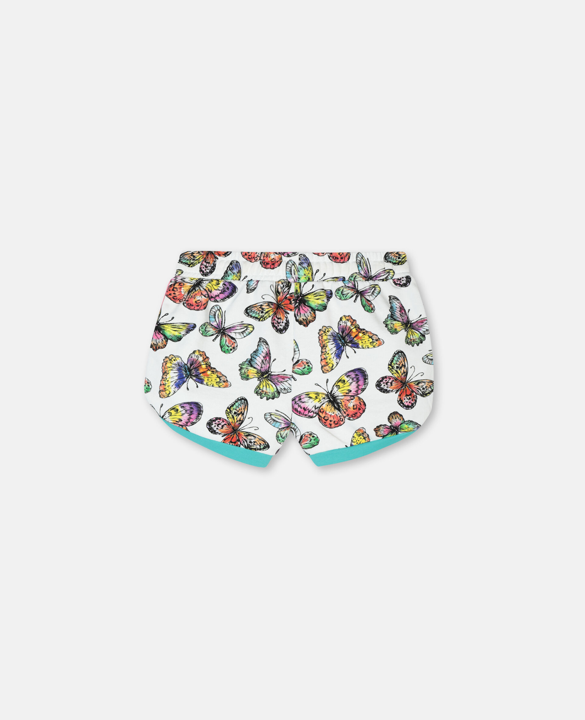 Butterfly Cotton Fleece Shorts-Multicoloured-large image number 3