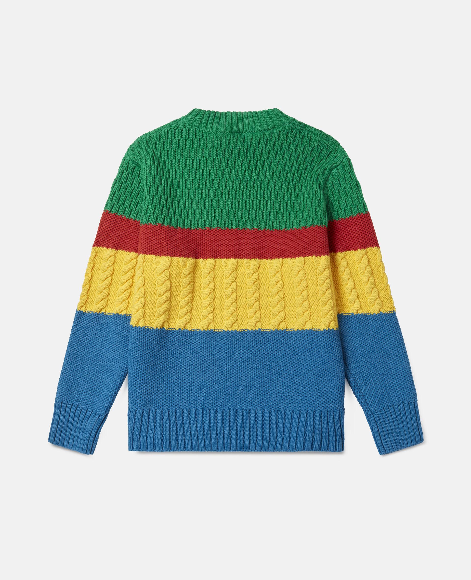Colourblock Oversized Knit Jumper-Multicolour-large image number 3