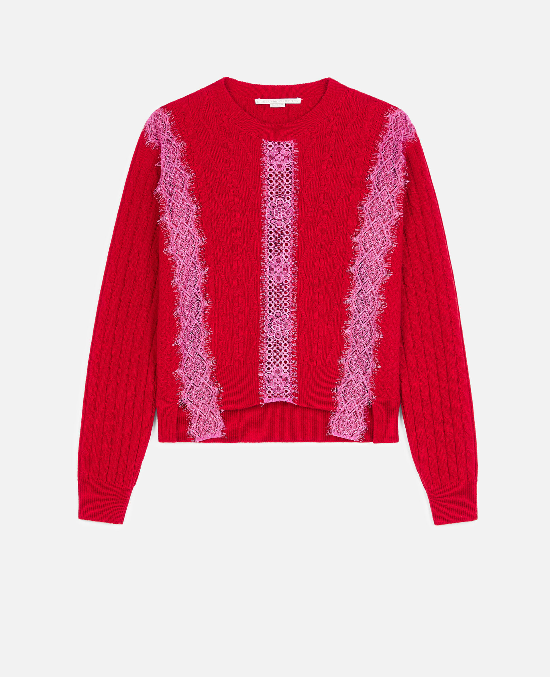 Cropped Wool Sweater -Red-large image number 0