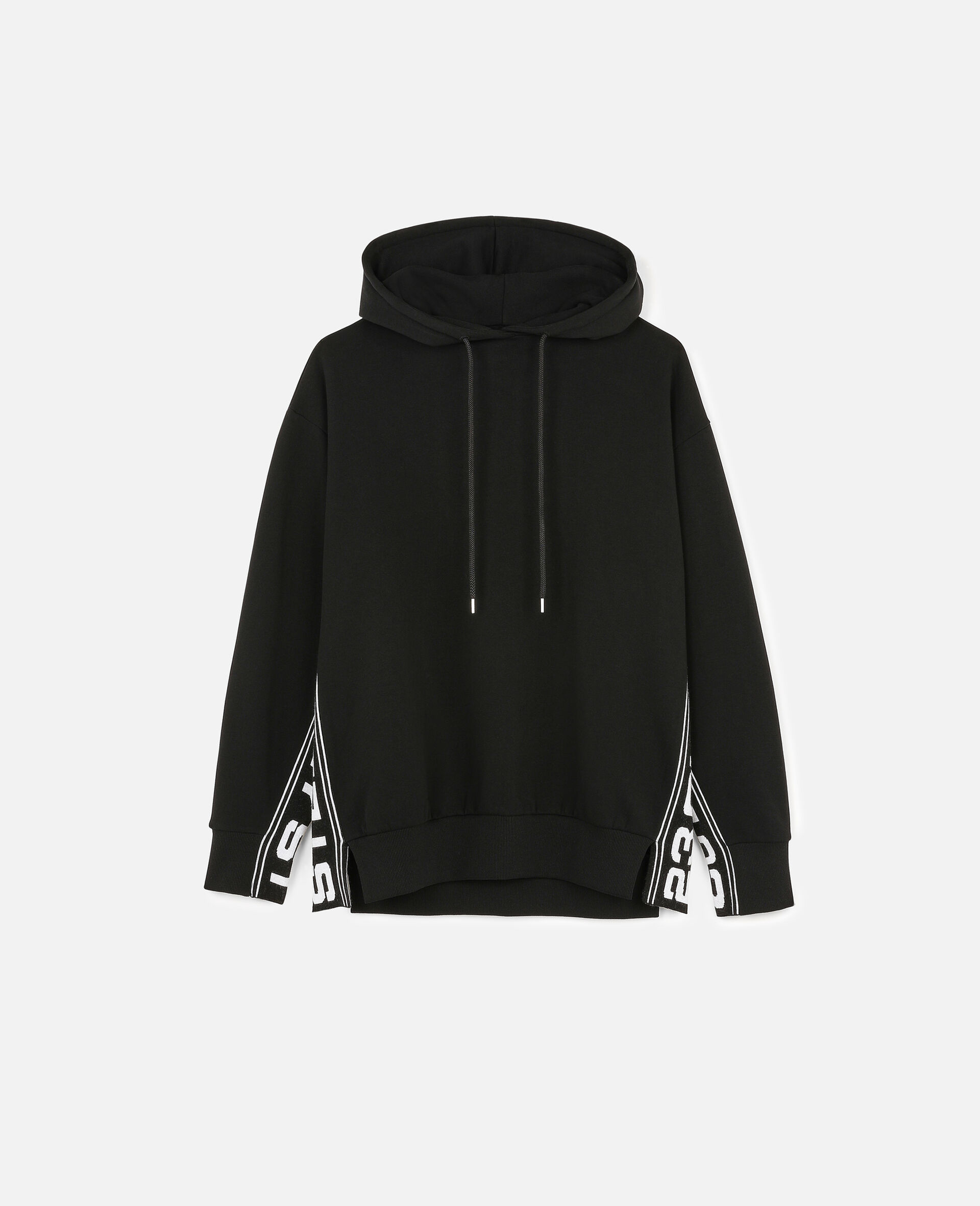 23 OBS Knitted Hoodie-Black-large image number 0