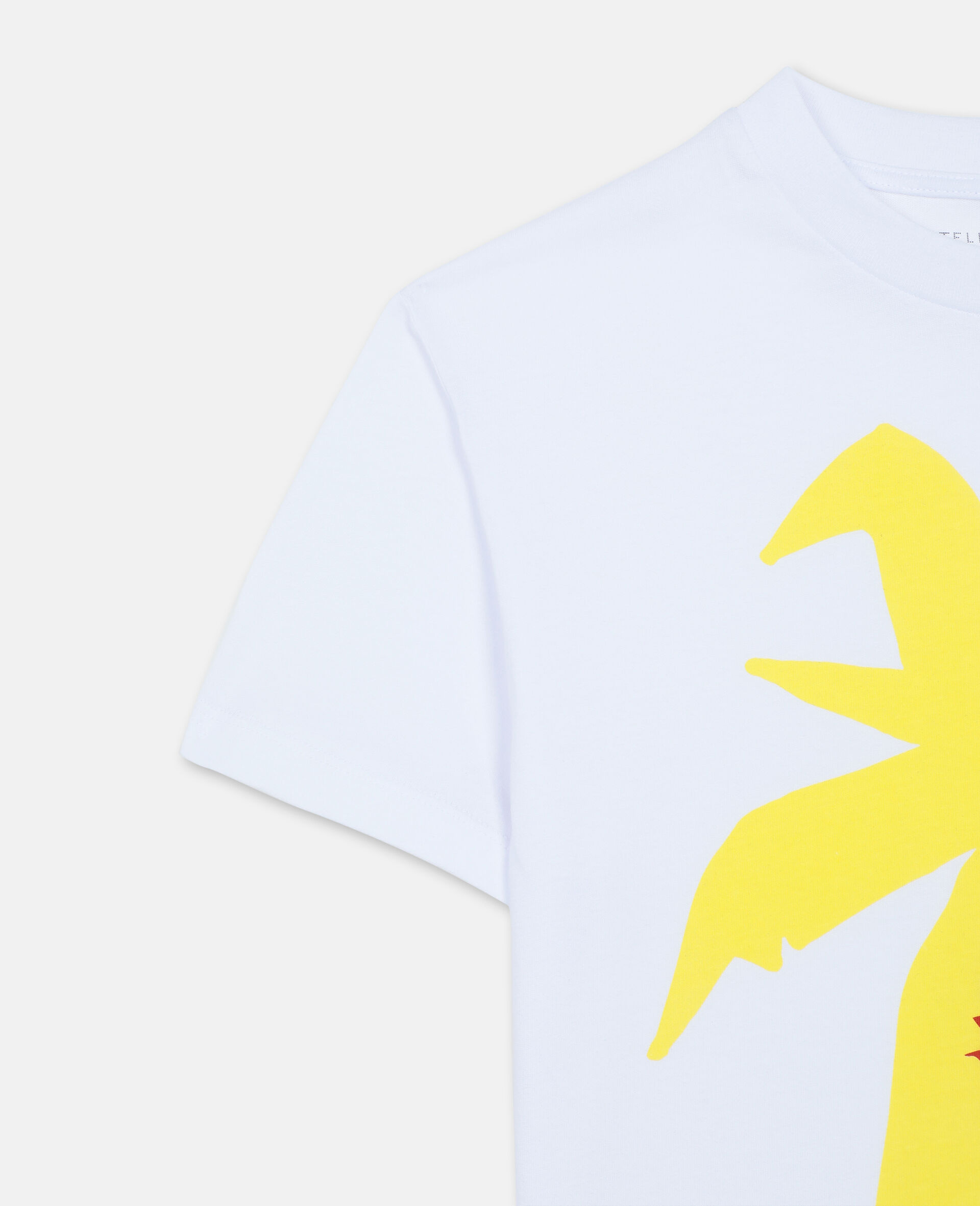T-Shirt Oversize in Cotone con Palma -Bianco-large image number 1
