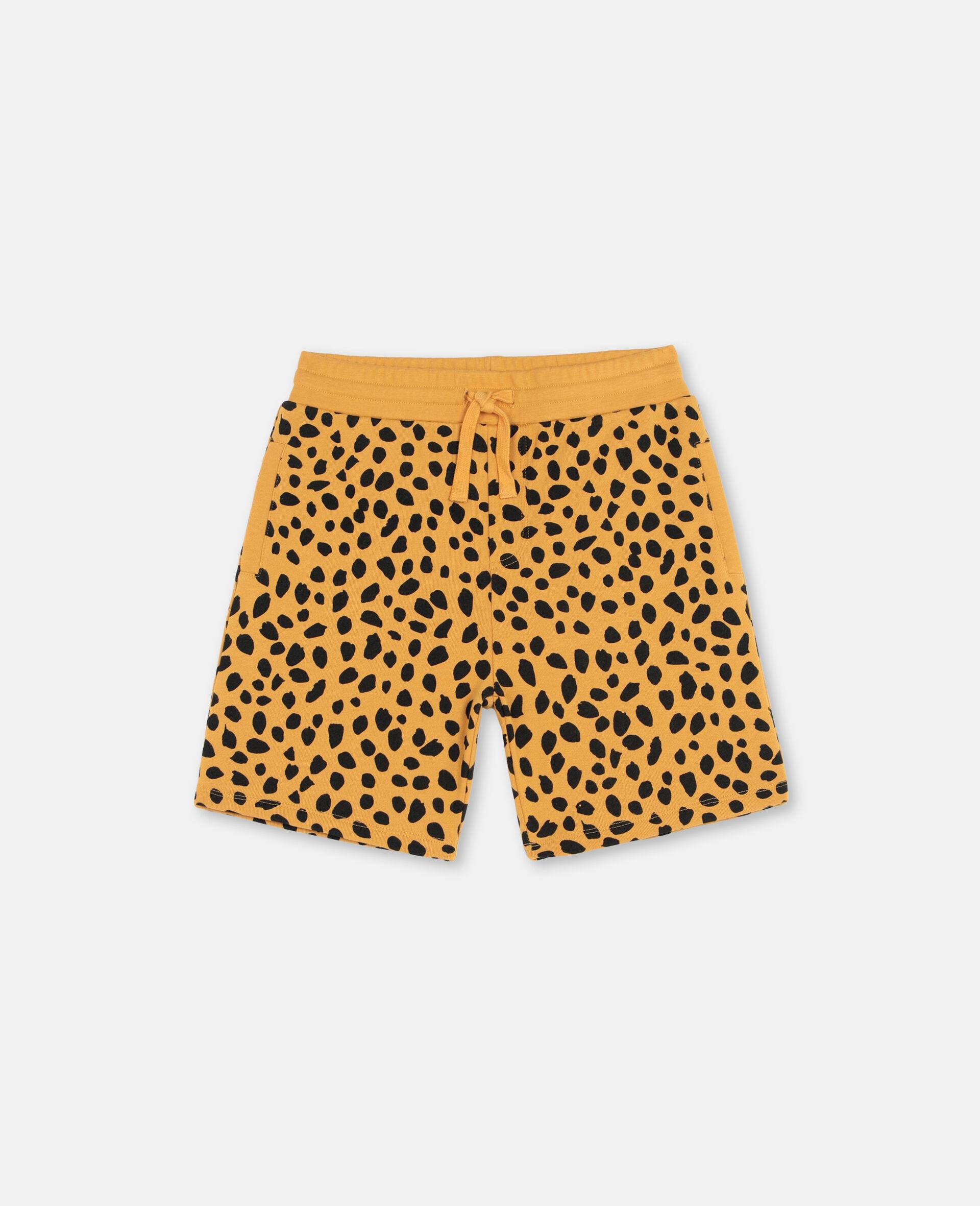 Cheetah Dots Cotton Shorts -Multicolour-large image number 0