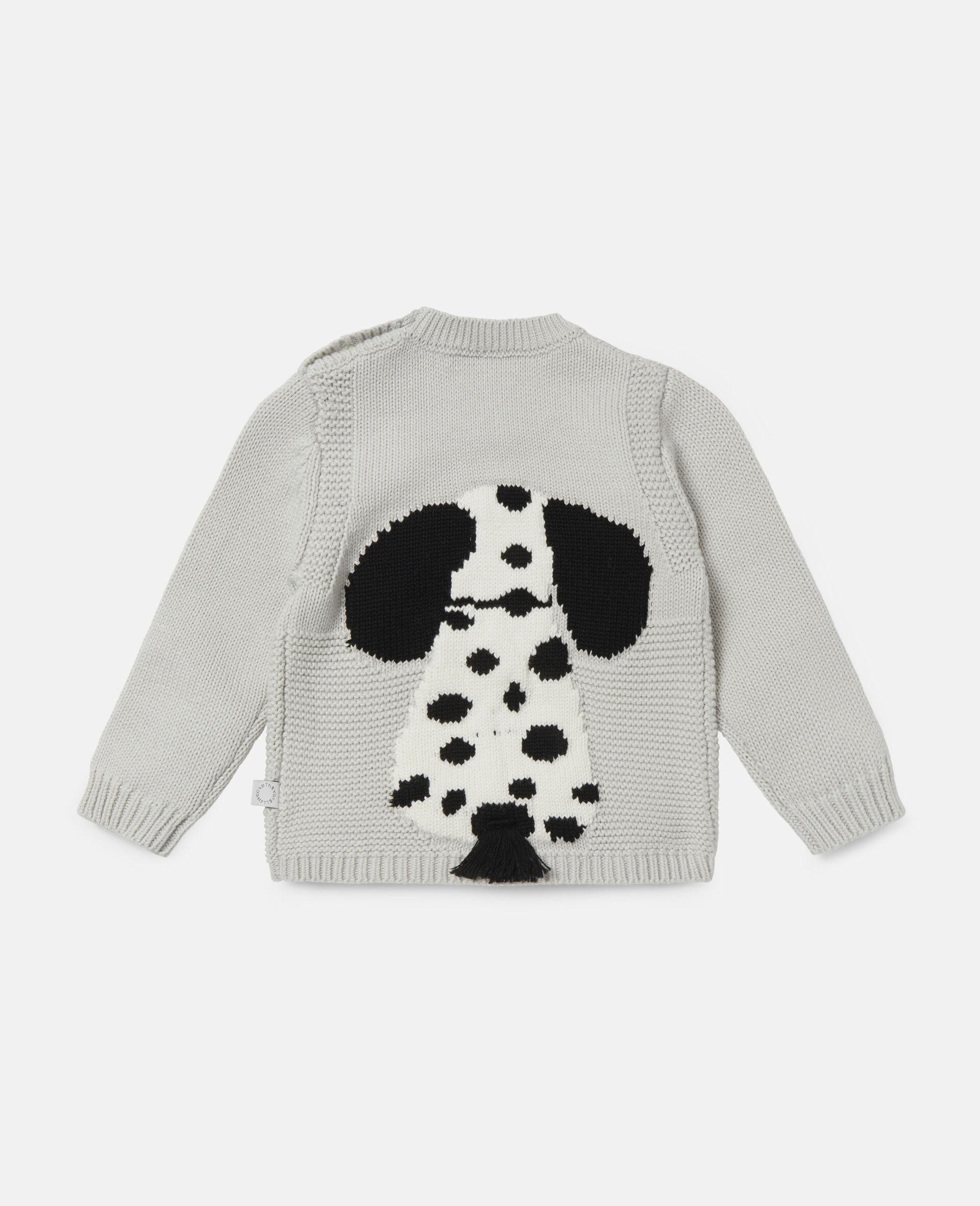 Dalmatian Intarsia Knit Jumper-Grey-large image number 3