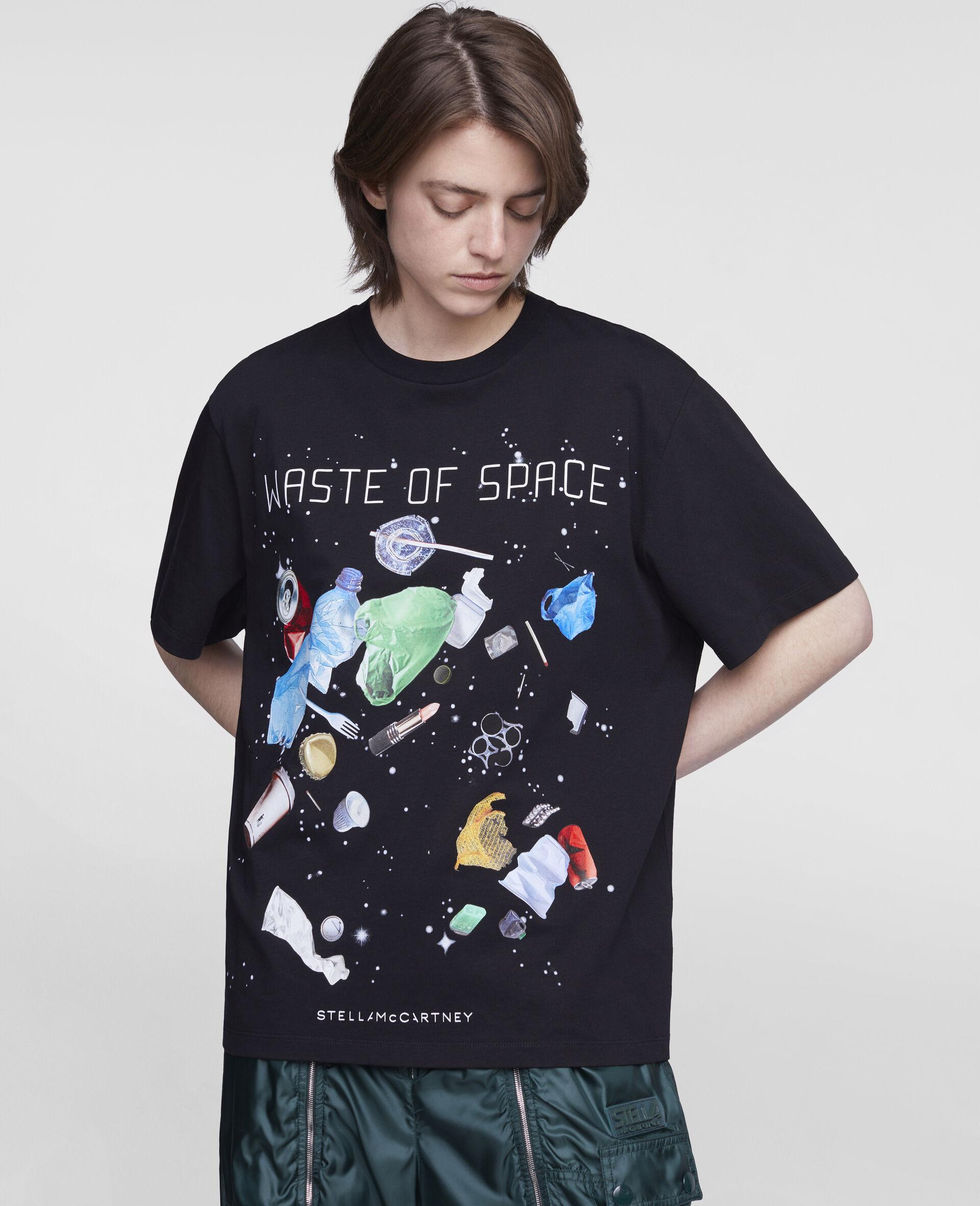 Waste Of Space' T-Shirt-Black-large image number 3