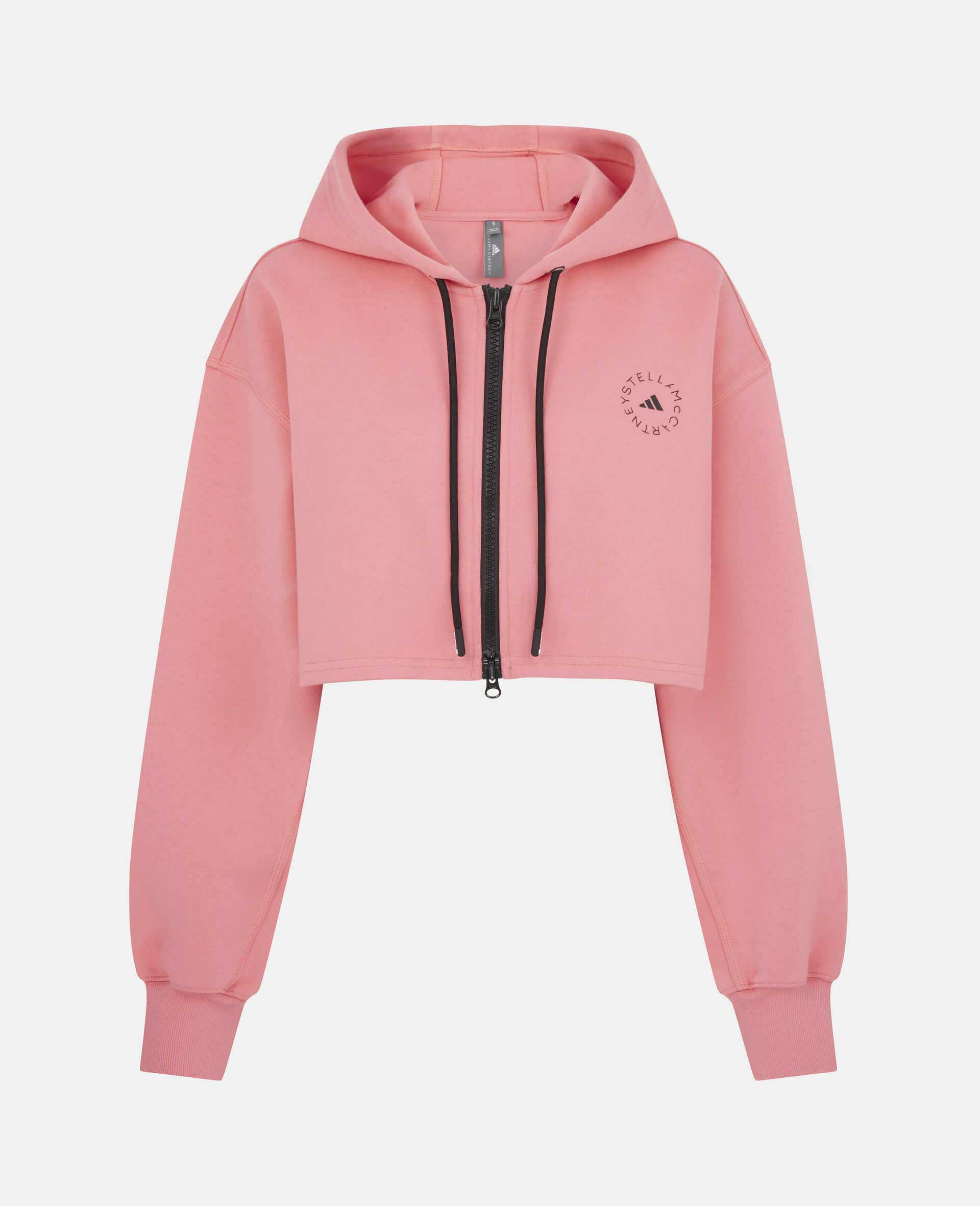 Pink Training Crop Hoodie-Pink-large image number 0