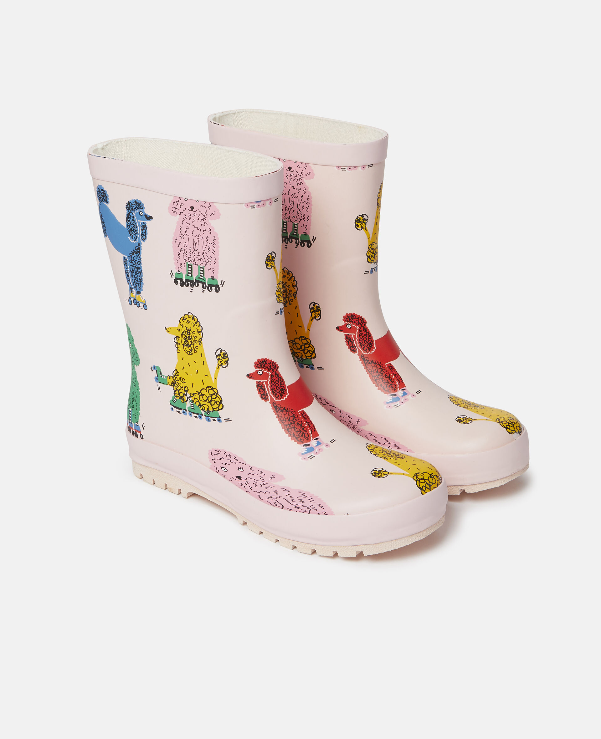 Doodle Poodles Waterproof Rainboots-Pink-large image number 3