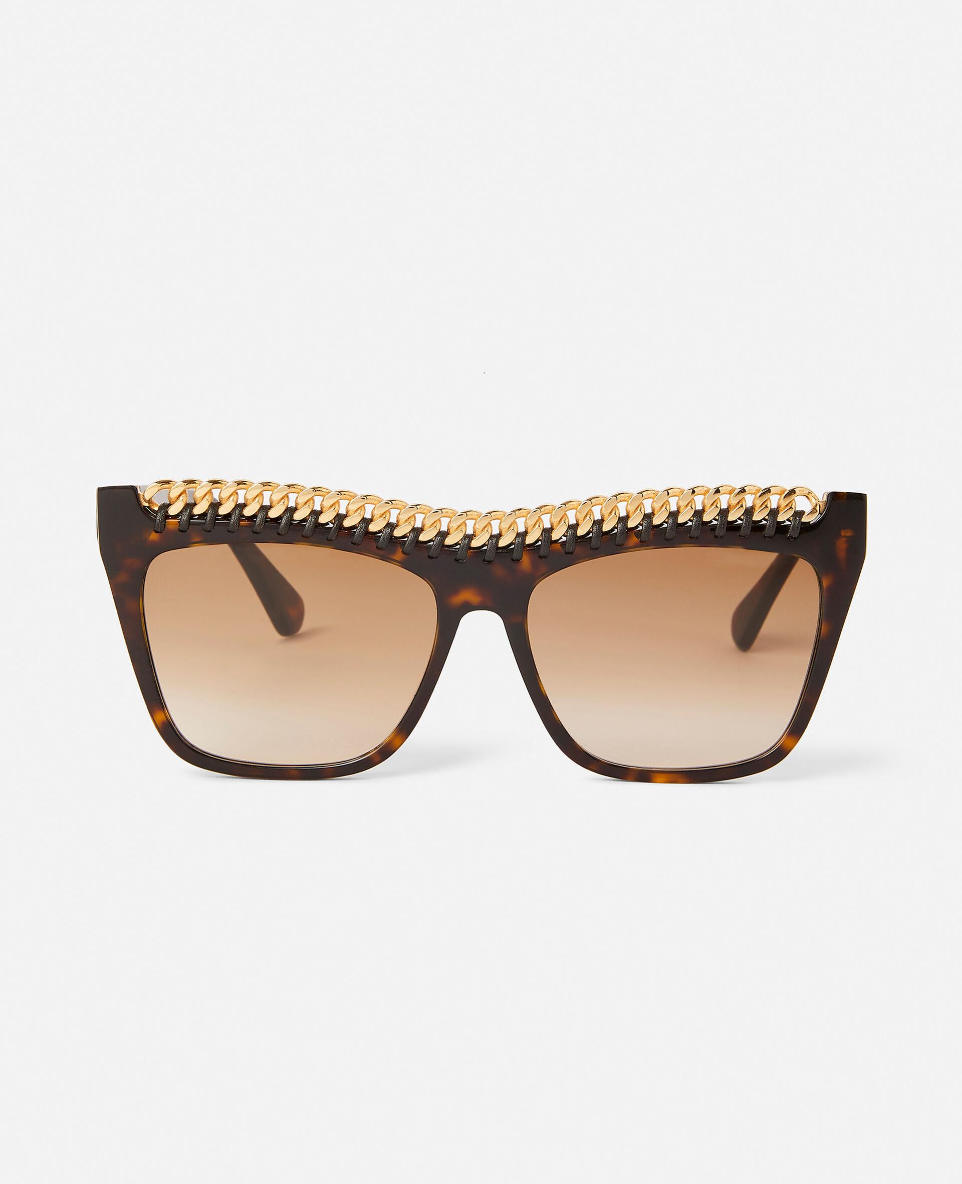Shiny Black Square Sunglasses-Black-large image number 5
