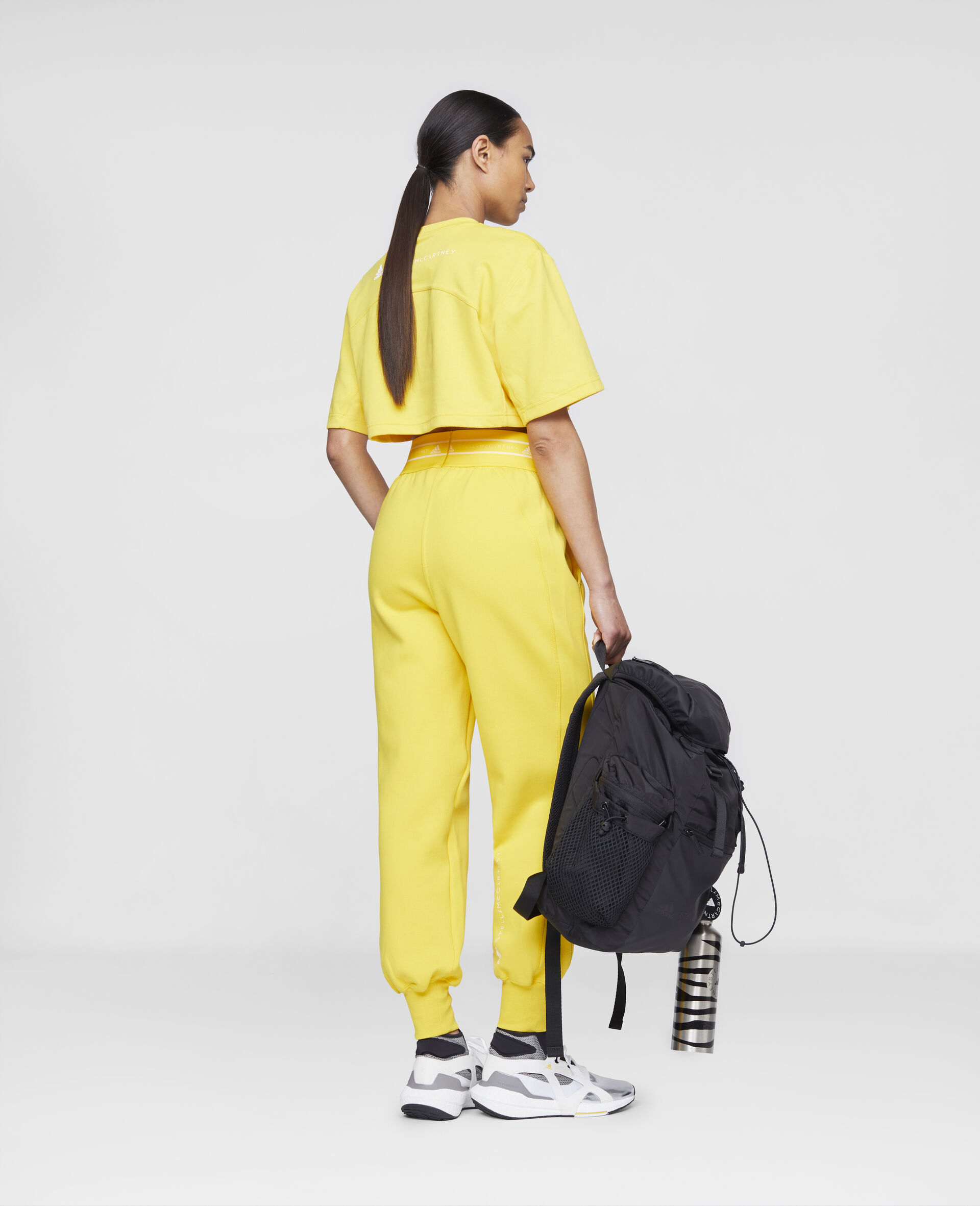 T-shirt crop d'entraînement jaune-Jaune-large image number 2
