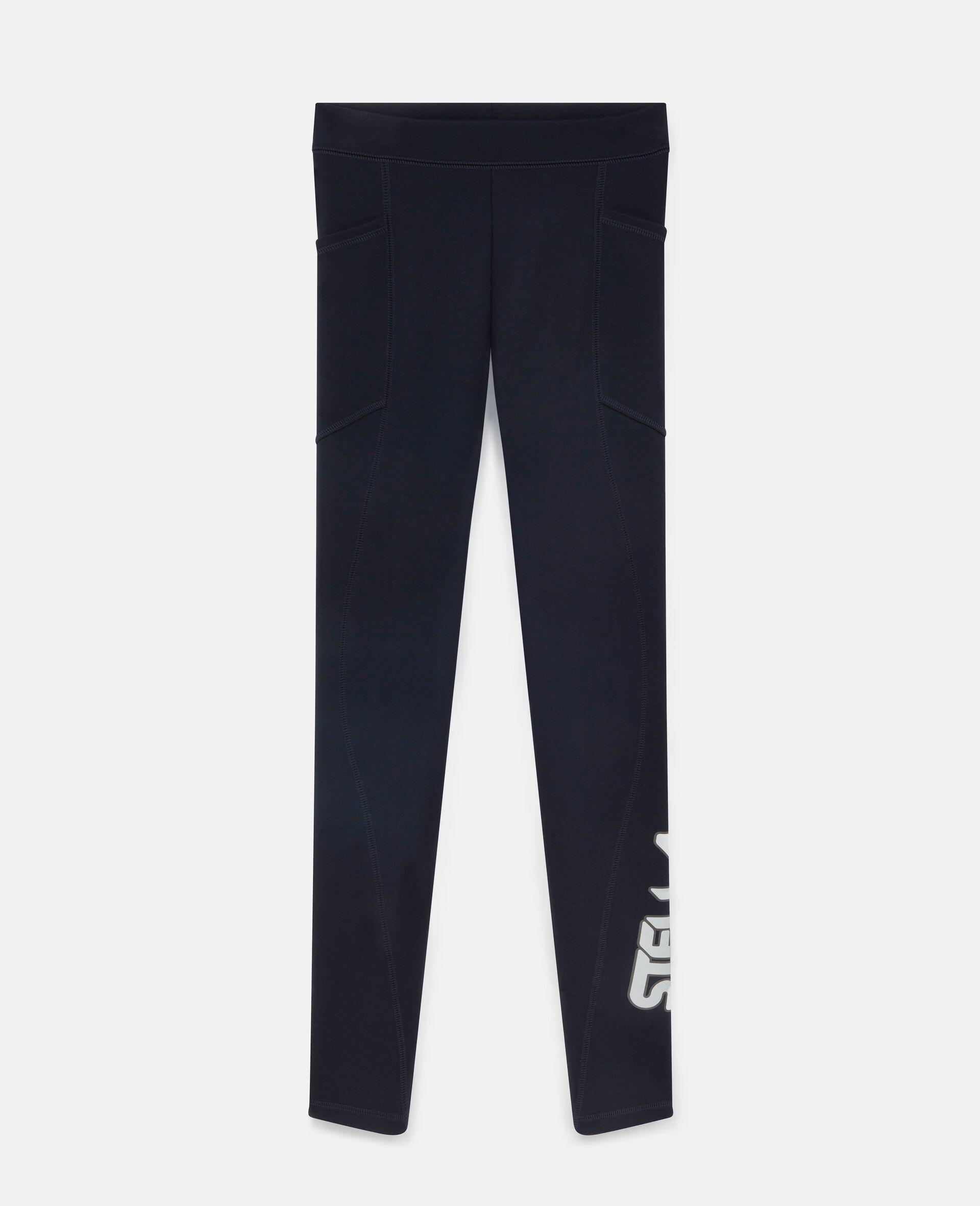 Leggings con Logo Scuba-Blu-large image number 0
