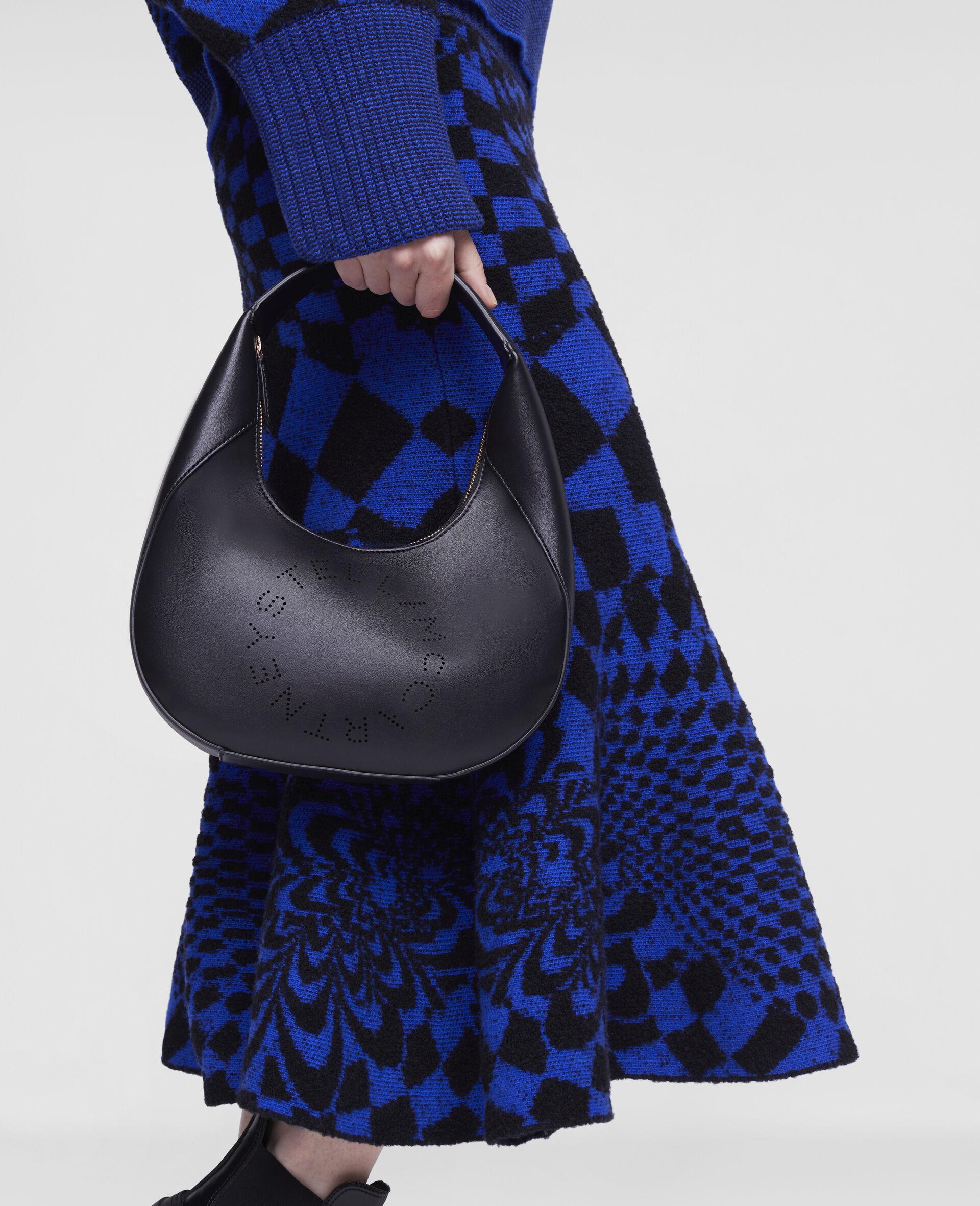 Small Stella Logo Shoulder Bag-Black-large image number 4