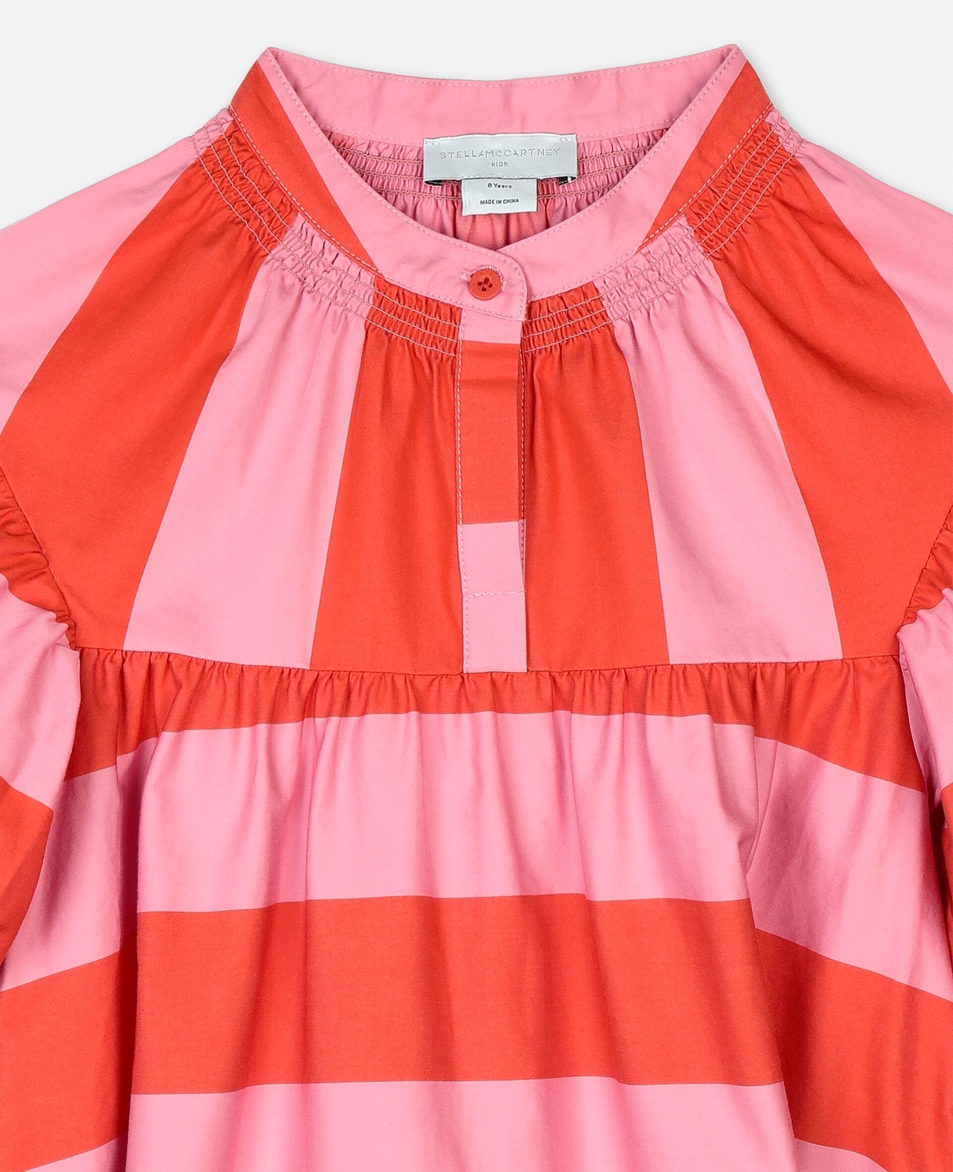 Striped Cotton Dress -Pink-large image number 1