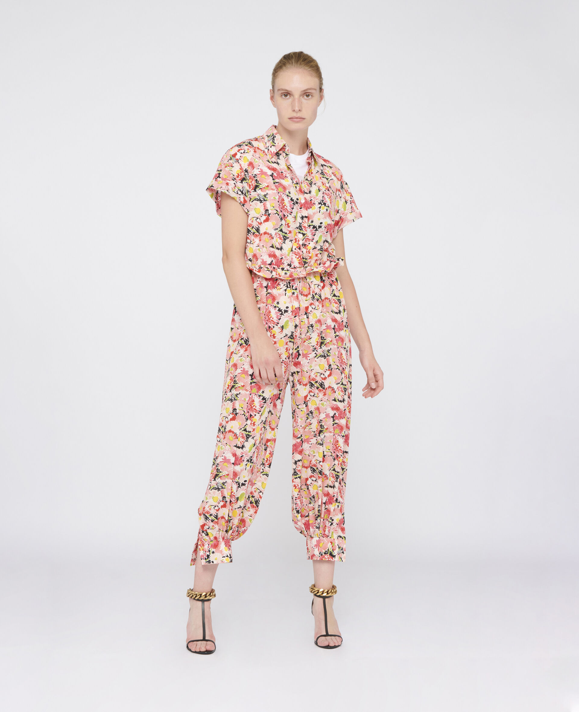 Johanna Silk Jumpsuit-Multicolour-large image number 1