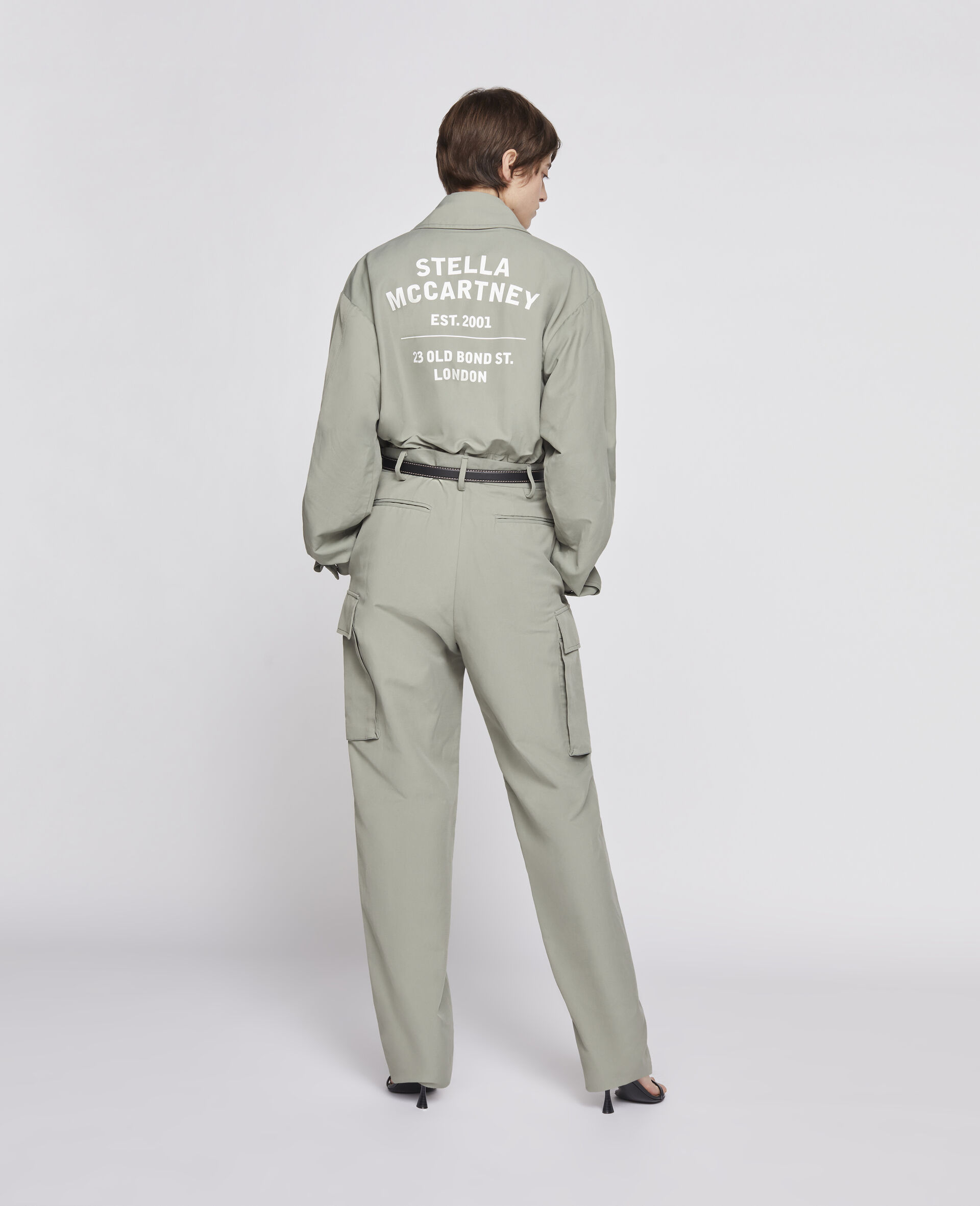 Pantalon kaki-Vert-large image number 2