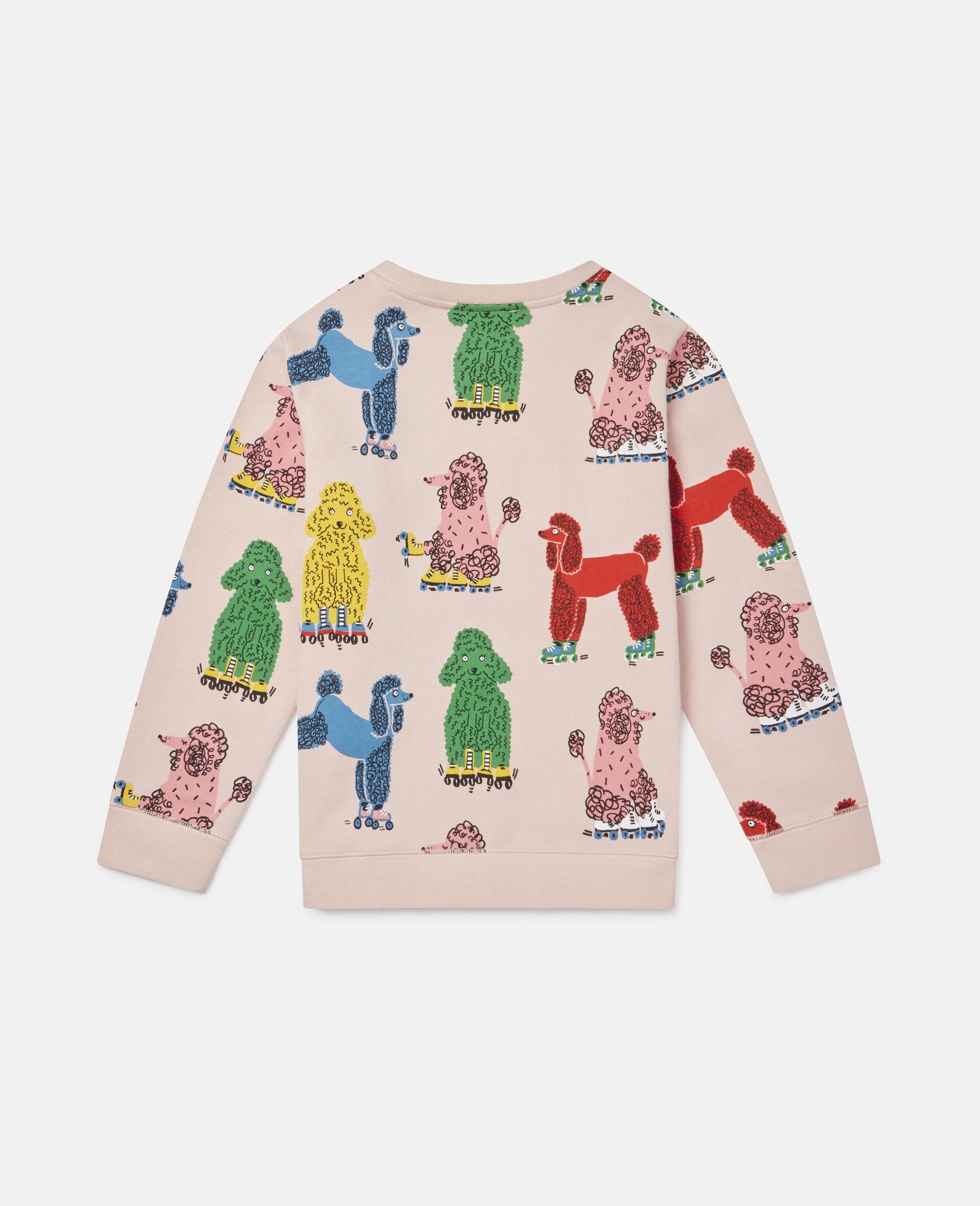 Sweatshirt aus Fleece mit Pudel-Print -Rose-large image number 3