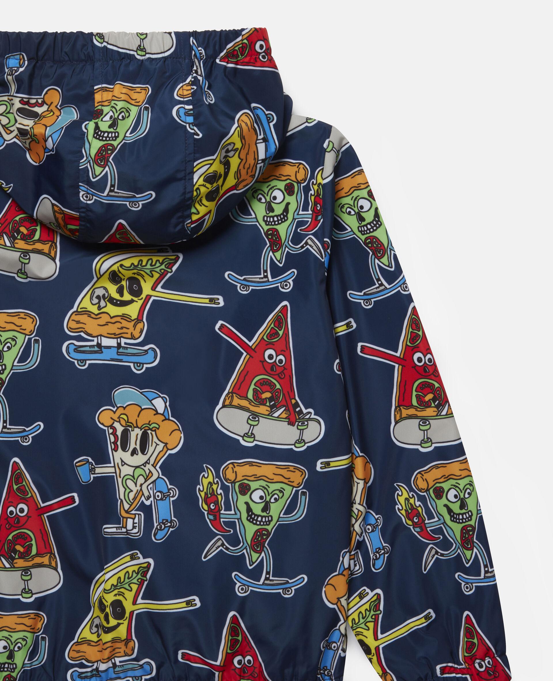 Jacke mit Pizza-Skater-Motiv -Blau-large image number 2