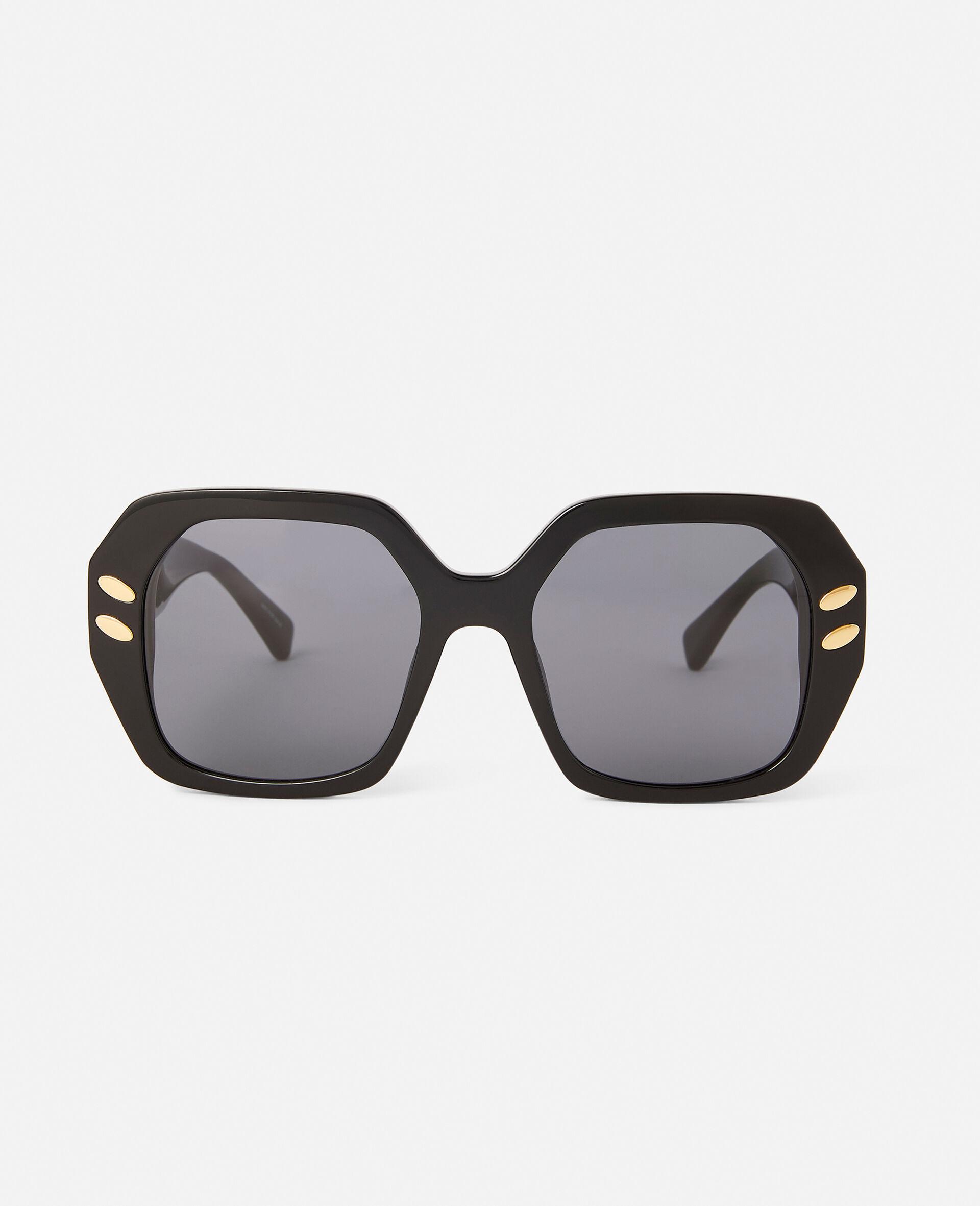 Brown Geometric Sunglasses-Brown-large image number 5