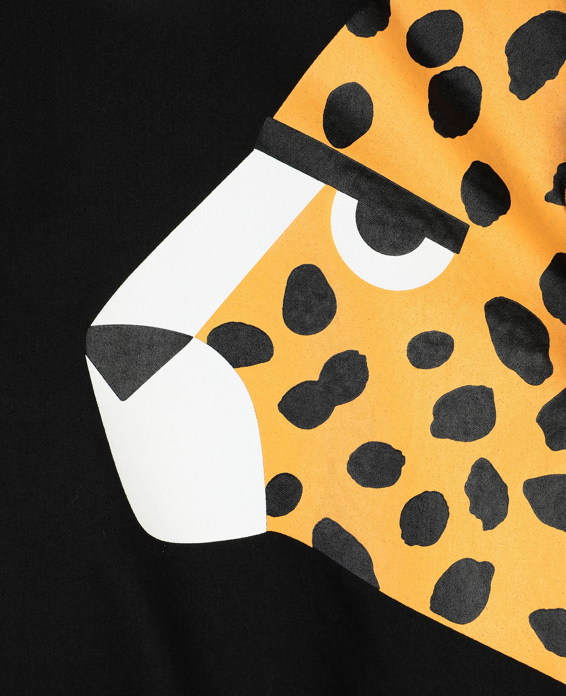 Cheetah棉质连衣裙-黑色-large image number 1