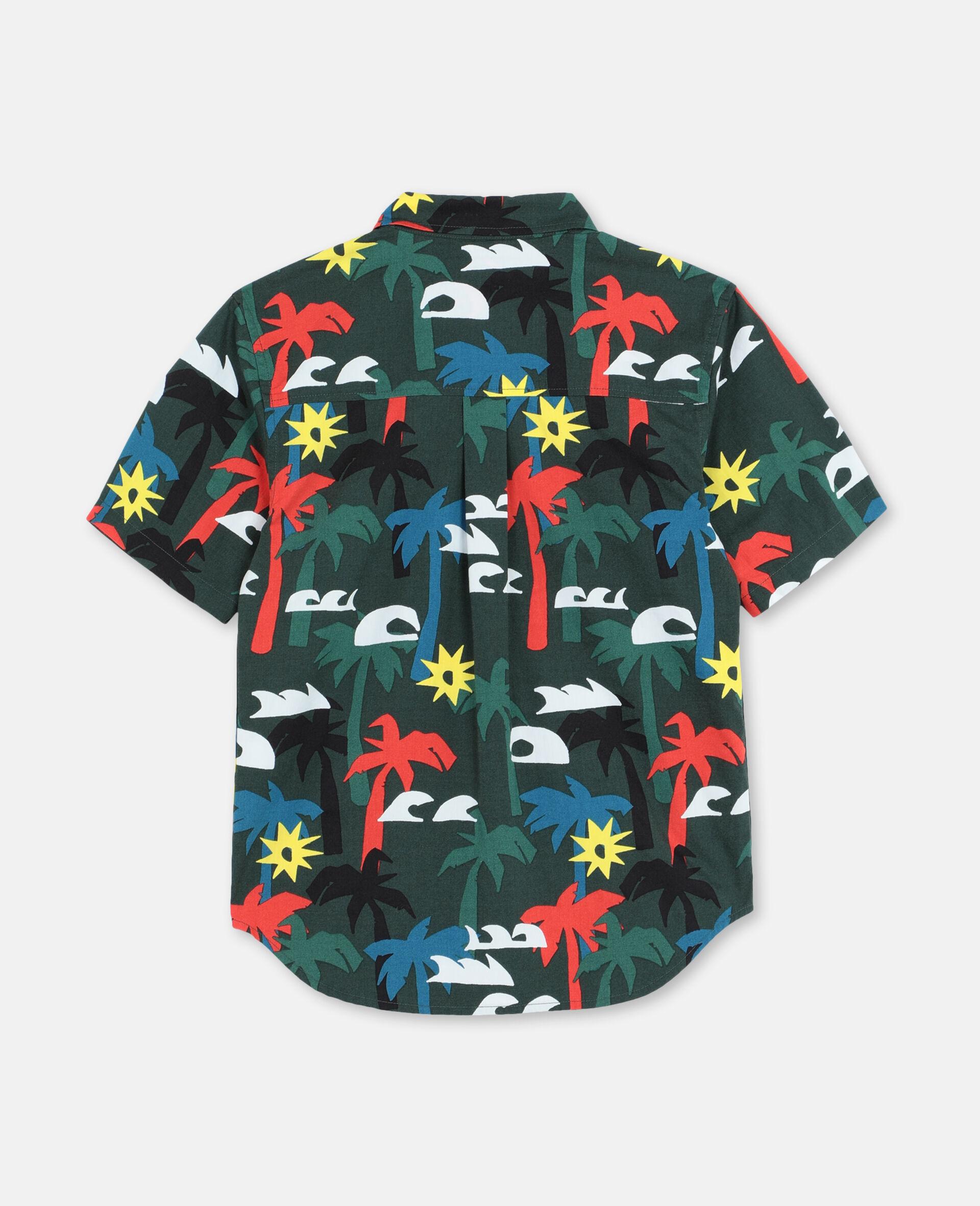 Palm Oversize Cotton Shirt -Multicolour-large image number 3