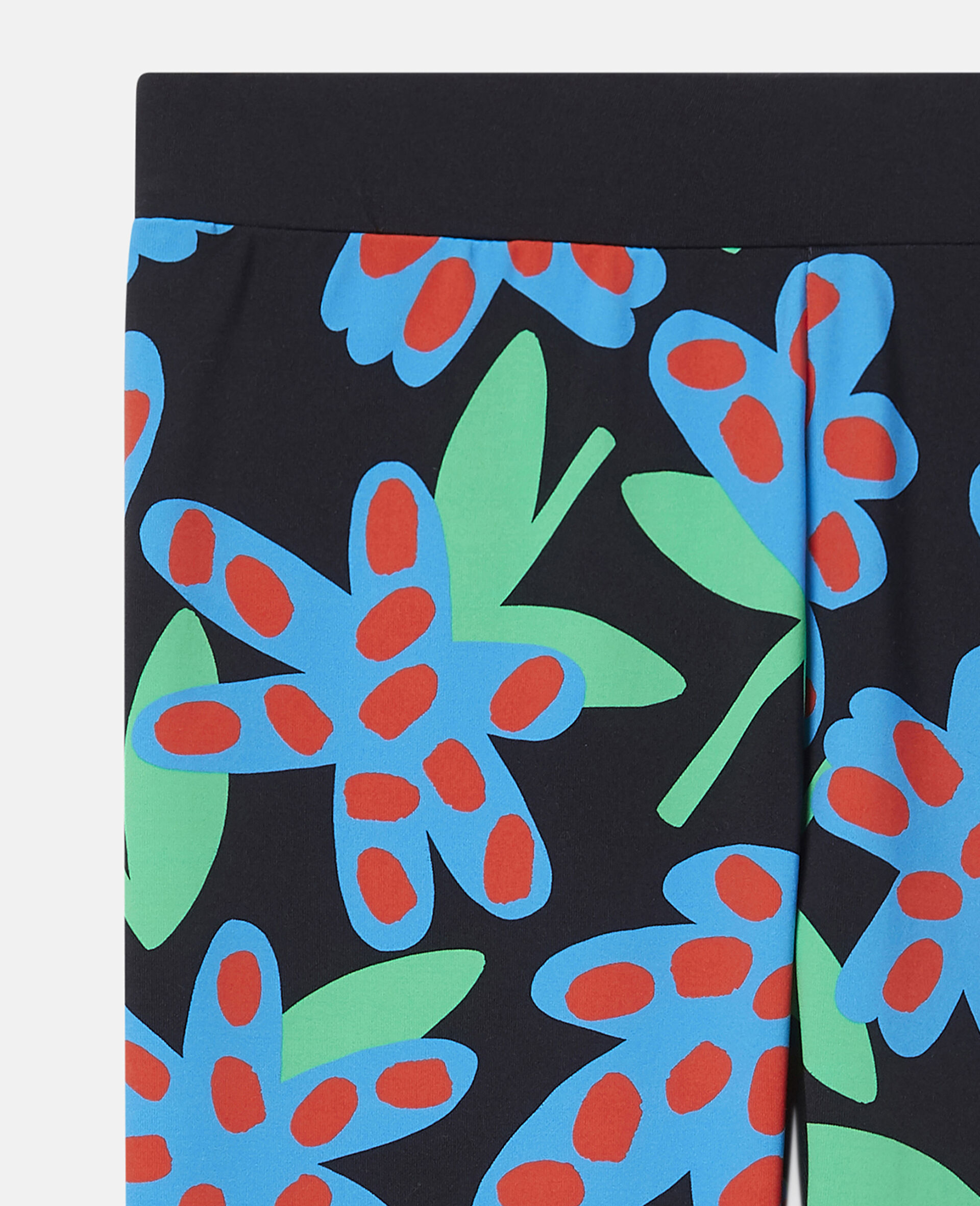 Übergroße Leggings mit gepunkteten Blumen-Bunt-large image number 1