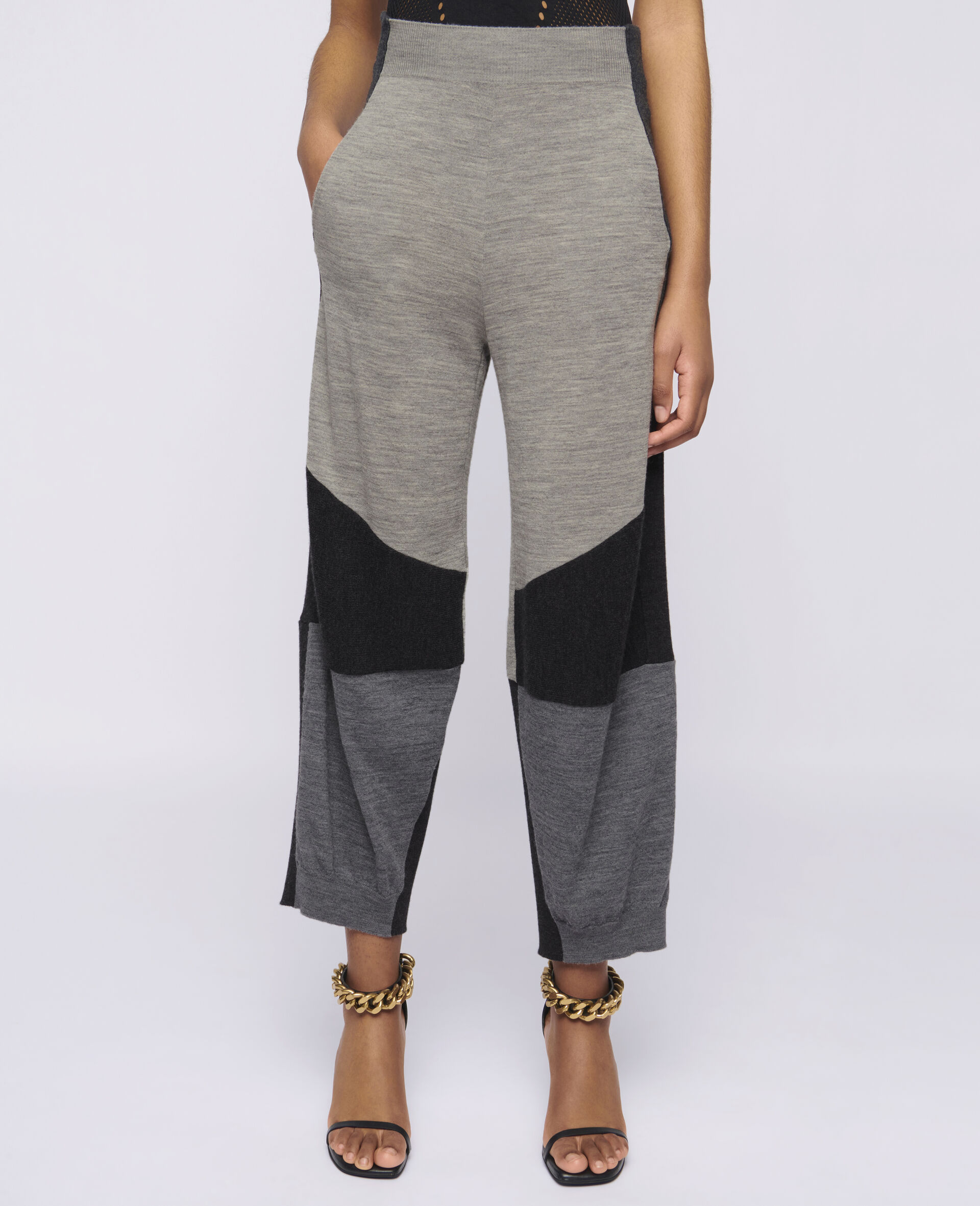 Pantaloni in Maglia-Grigio-large image number 3