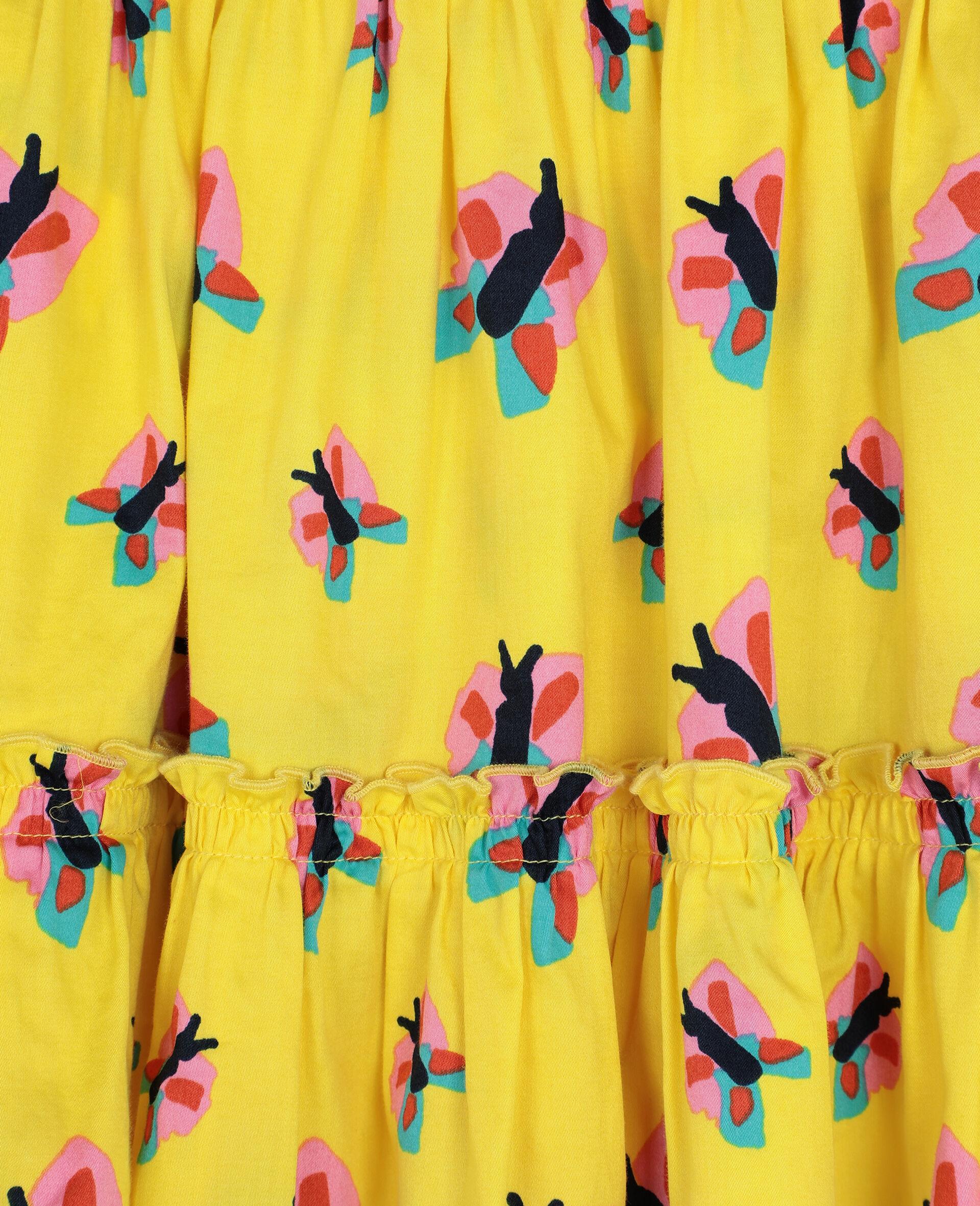 Baumwollrock mit Schmetterling-Print -Gelb-large image number 2