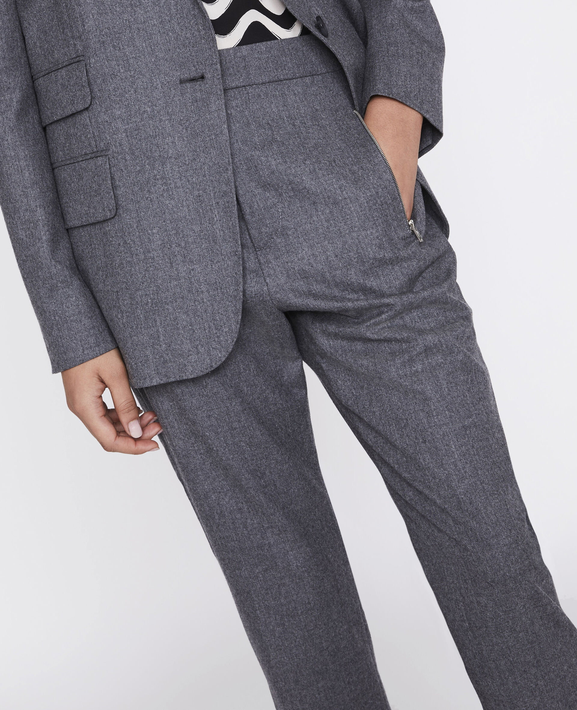 Pantalon Claire ajusté-Gris-large image number 3