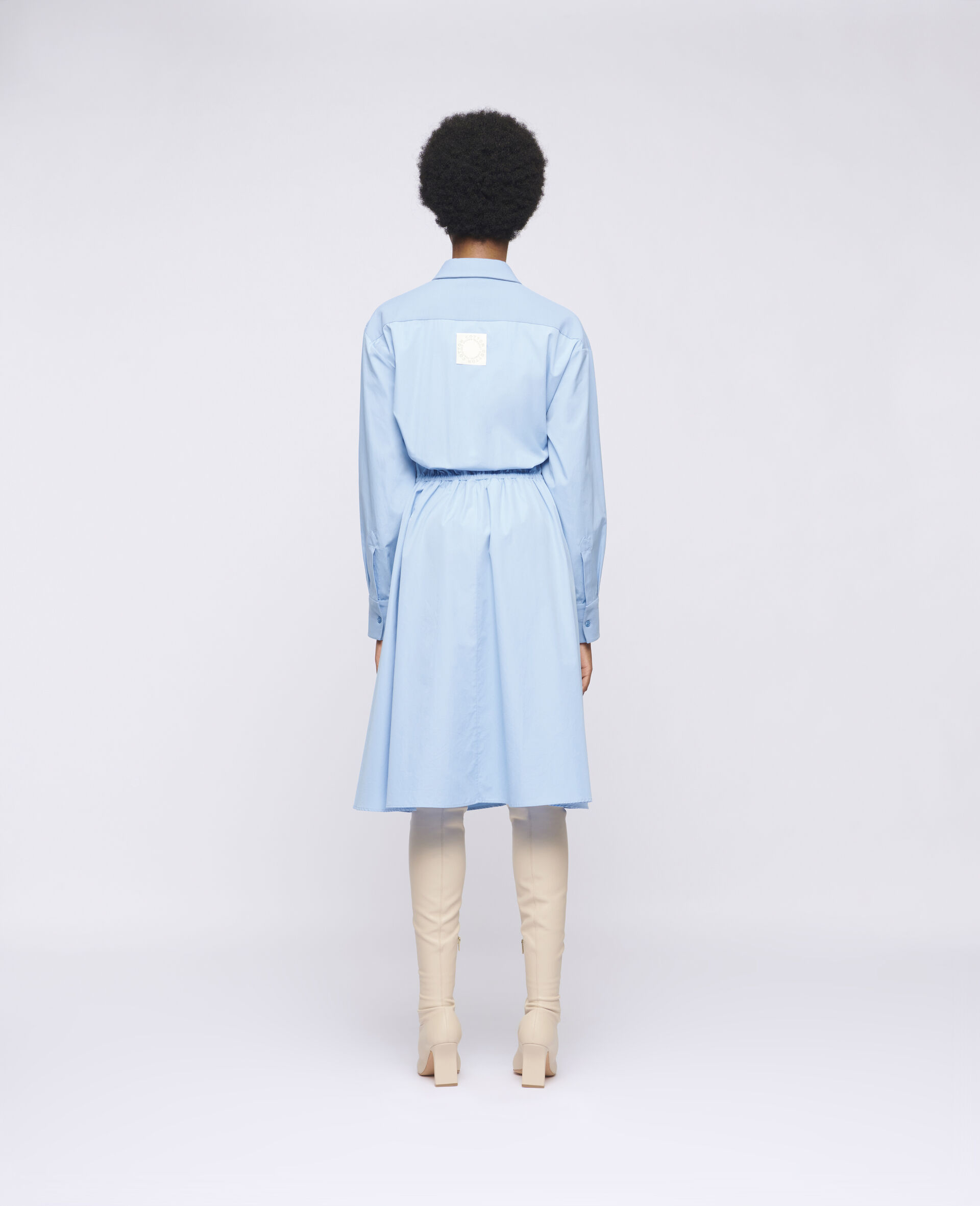 Mia Cotton Dress-Blue-large image number 2