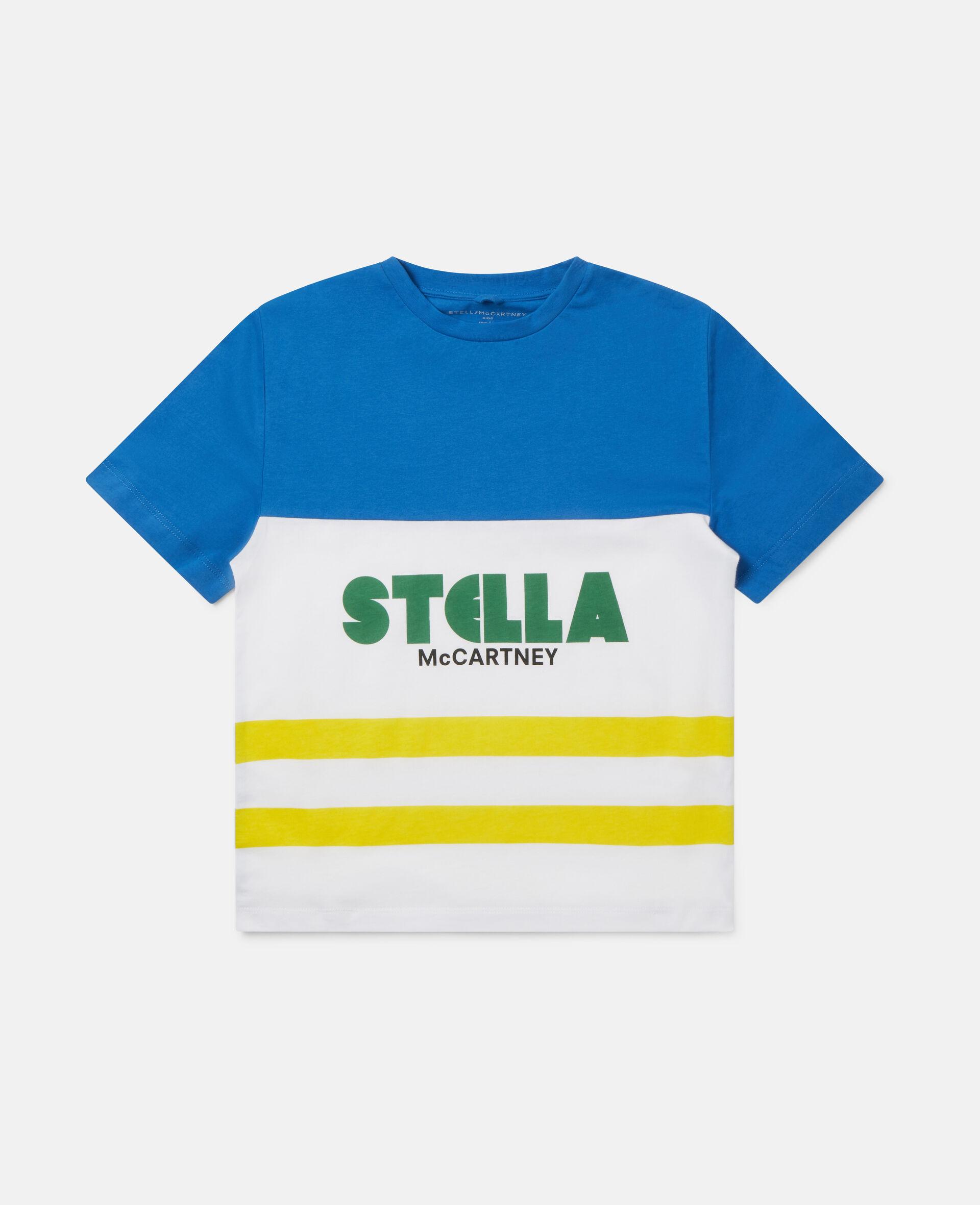 Oversized Logo Cotton T-shirt-Multicolour-large image number 0