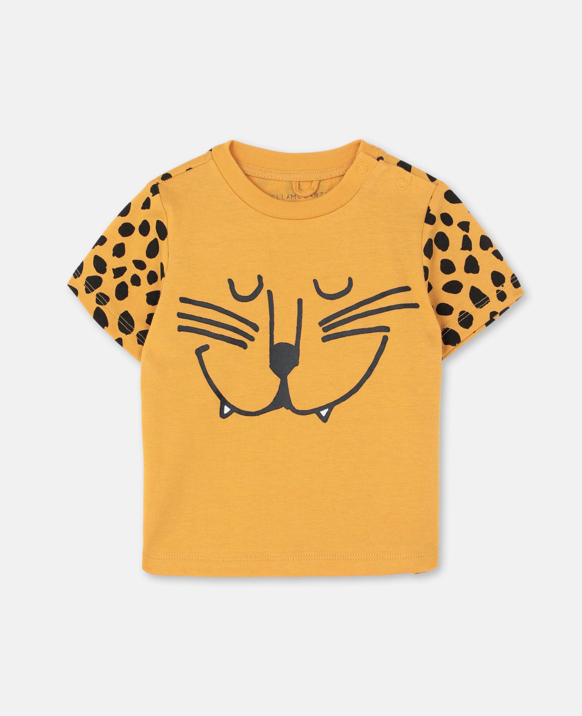 Cheetah Cotton T-shirt -Orange-large image number 0