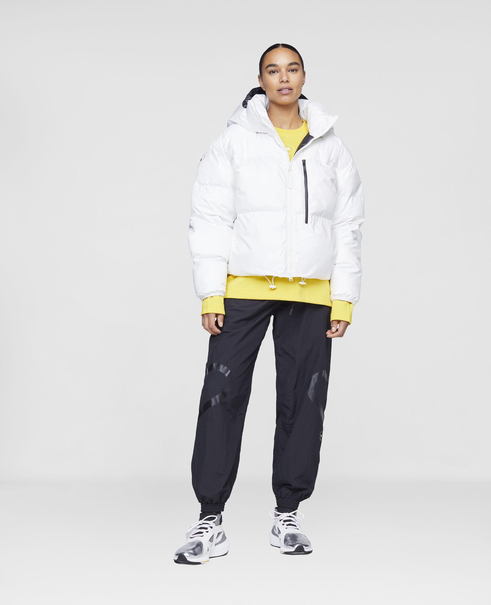 White Training Puffer Jacket-White-large image number 1