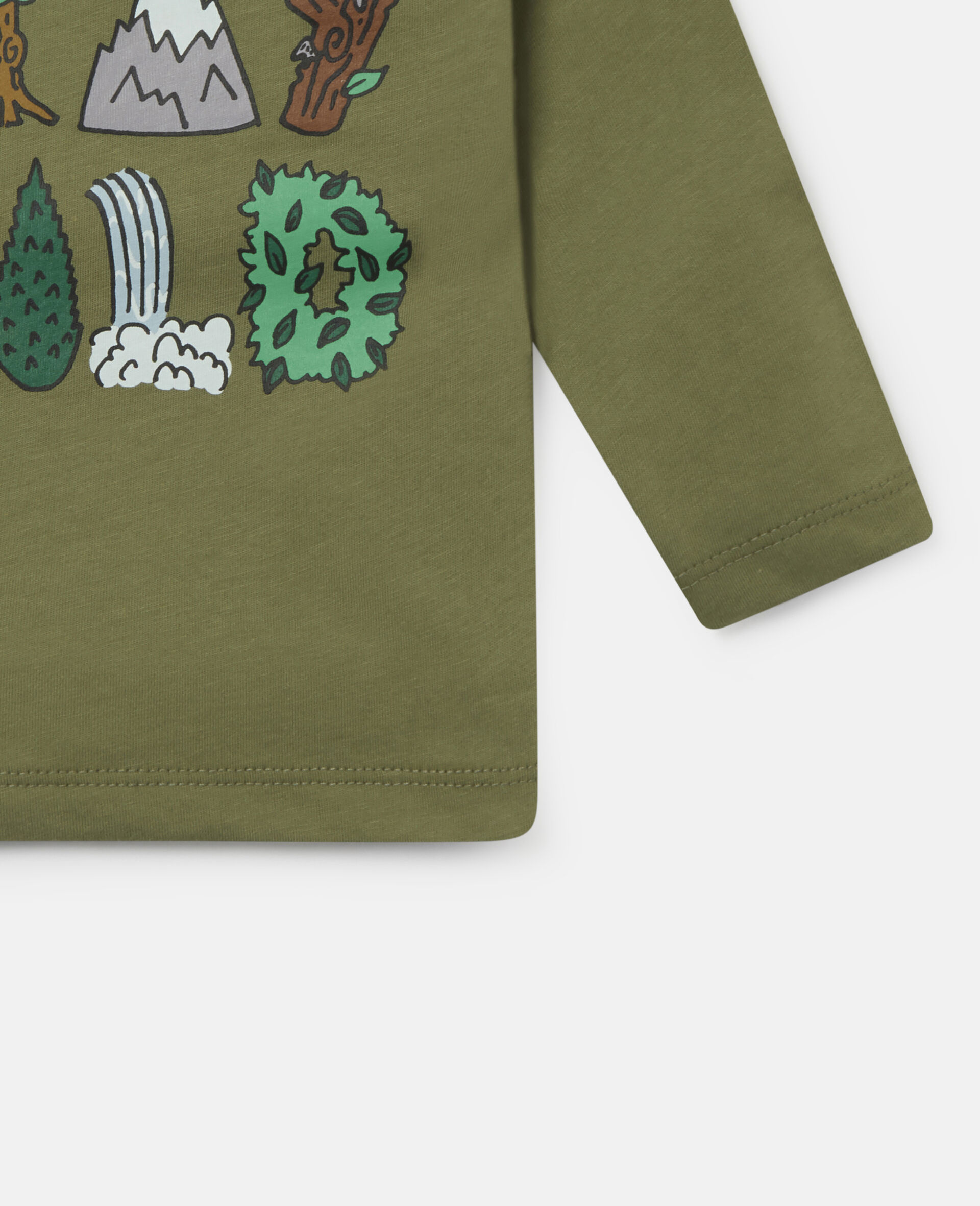 'Stay Wild' Cotton Top-Green-large image number 2