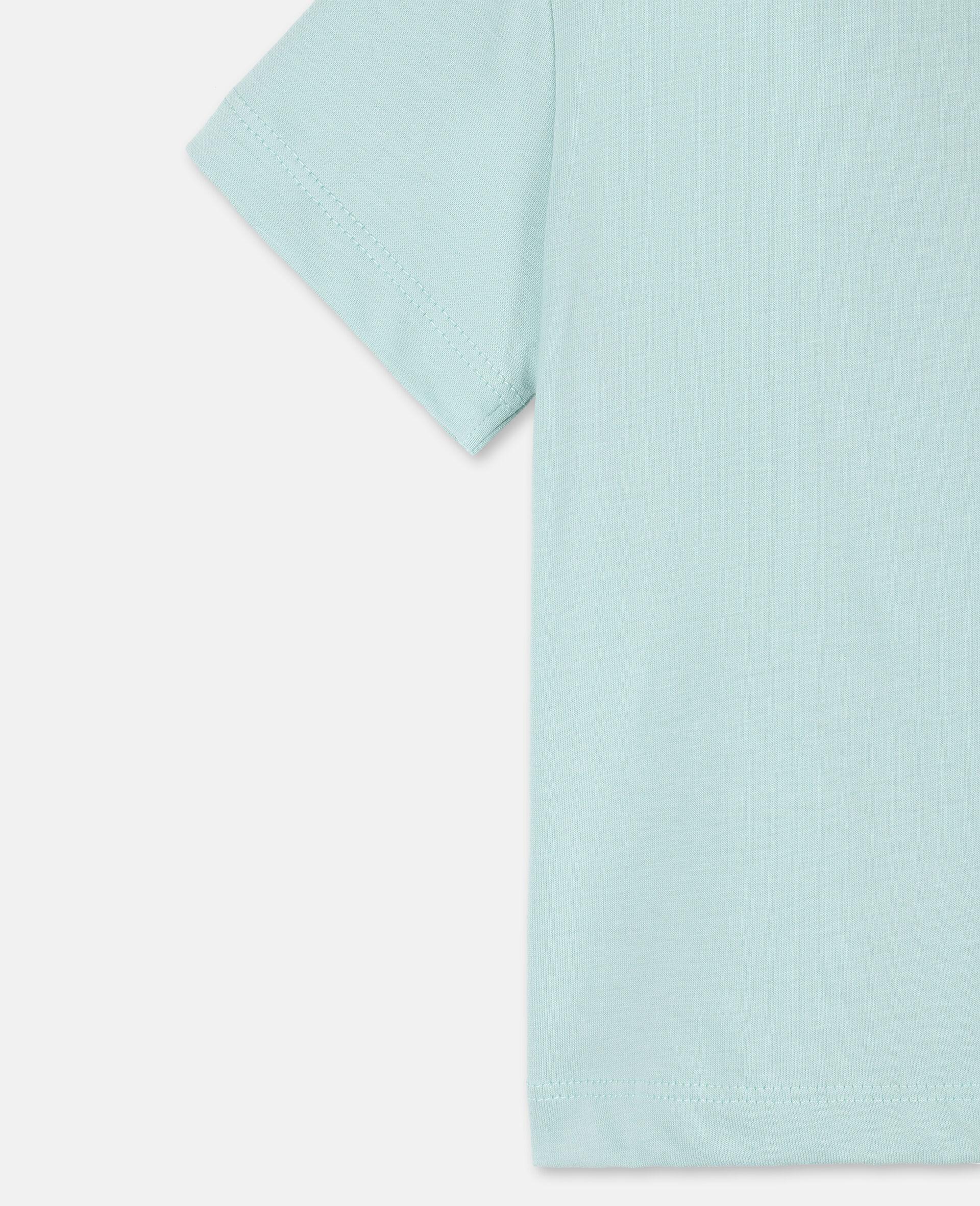 T-Shirt aus Baumwolle mit Schmetterling-Print-Grün-large image number 2