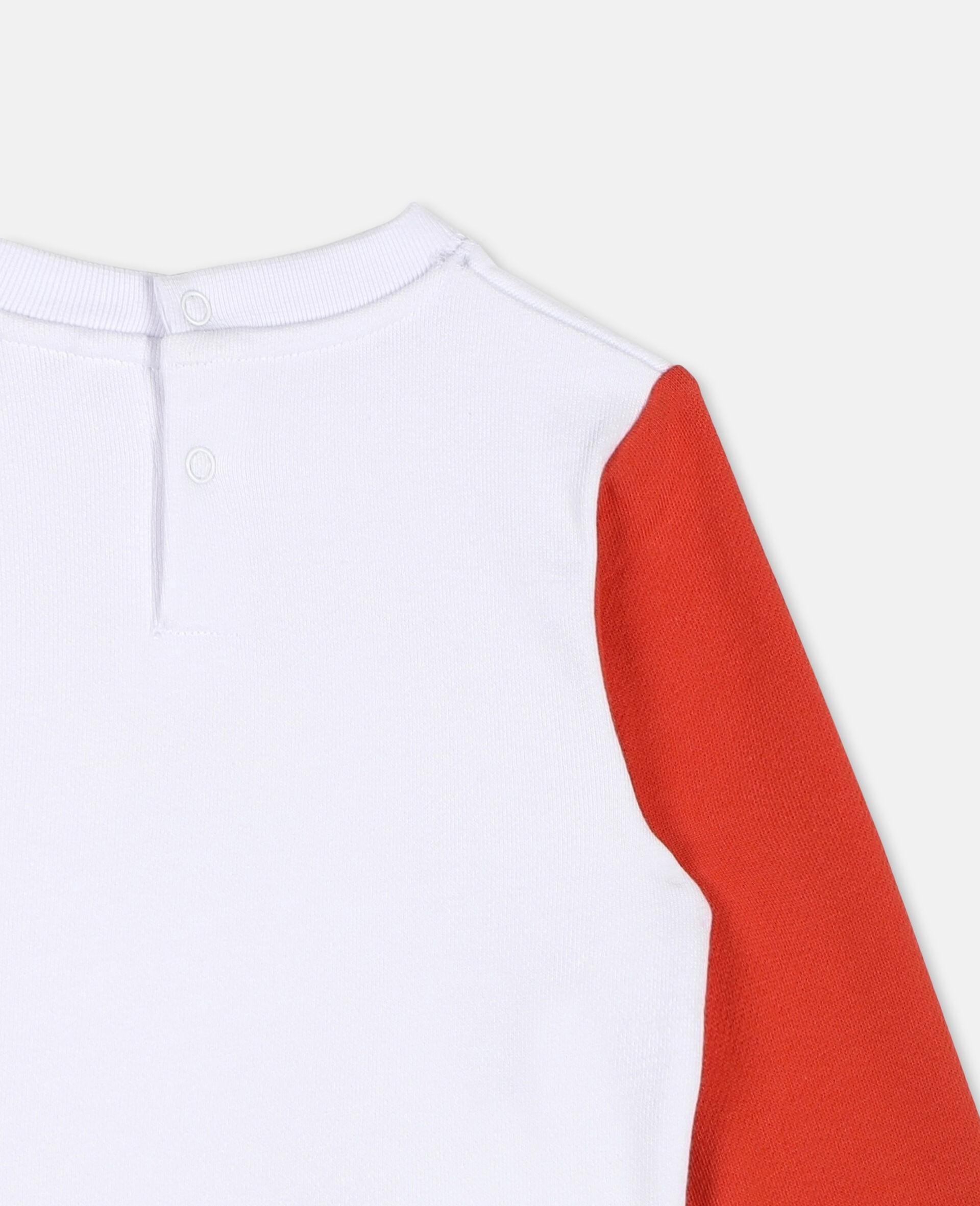 Flamingo Cotton Sweatshirt -White-large image number 2