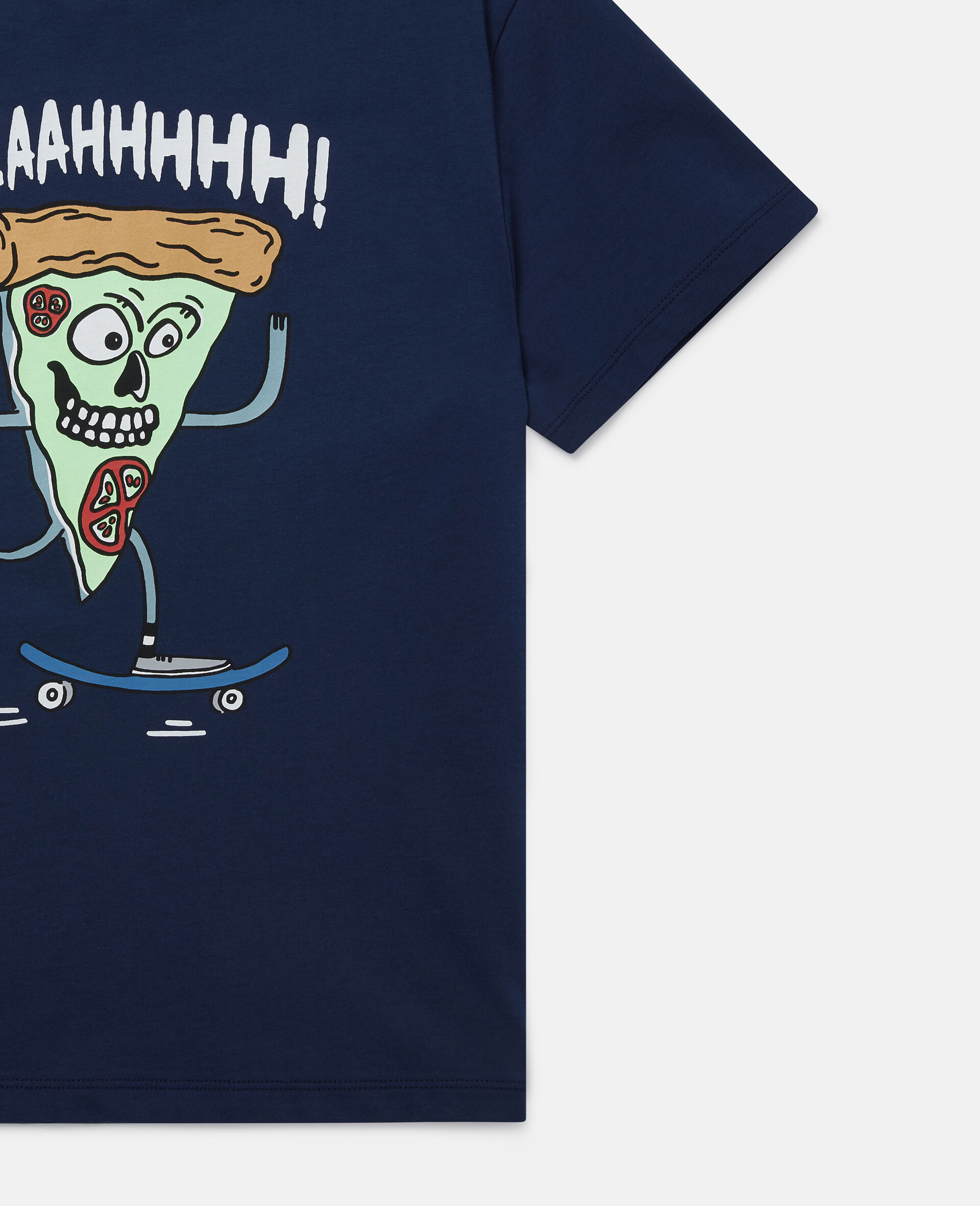 T-shirt Pizza Skater Oversize-Blu-large image number 1