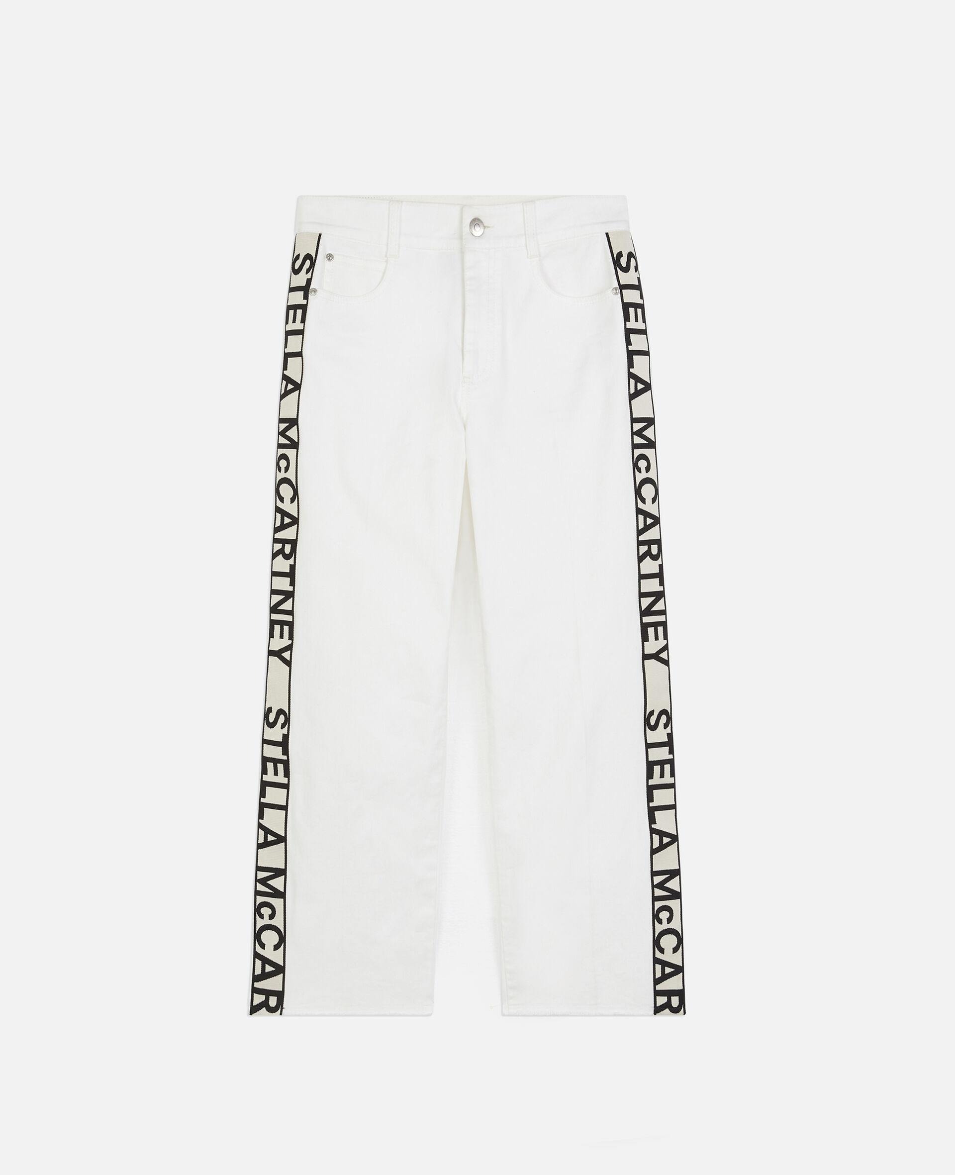 九分牛仔裤-白色-large image number 0
