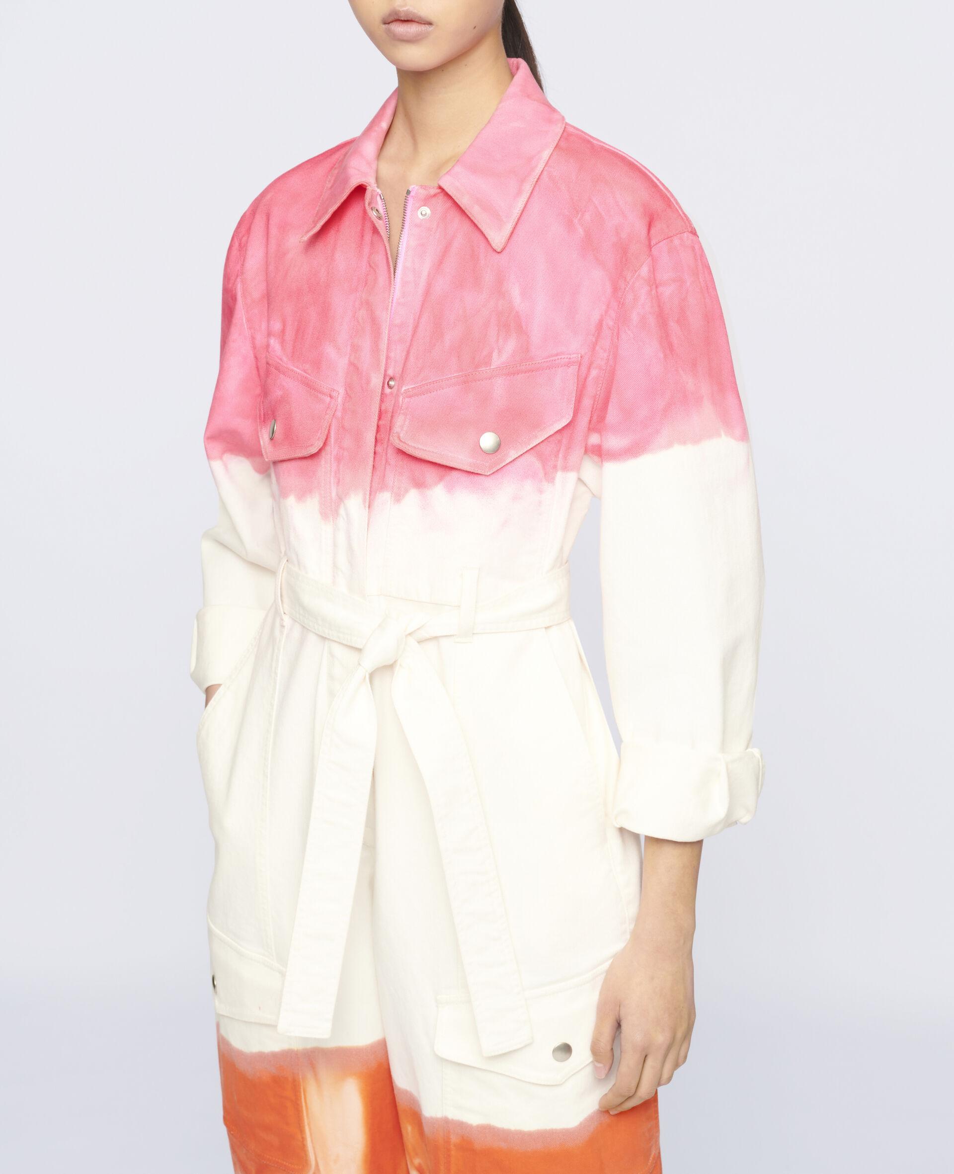 Fluo Wash Denim Jumpsuit-Multicolour-large image number 3
