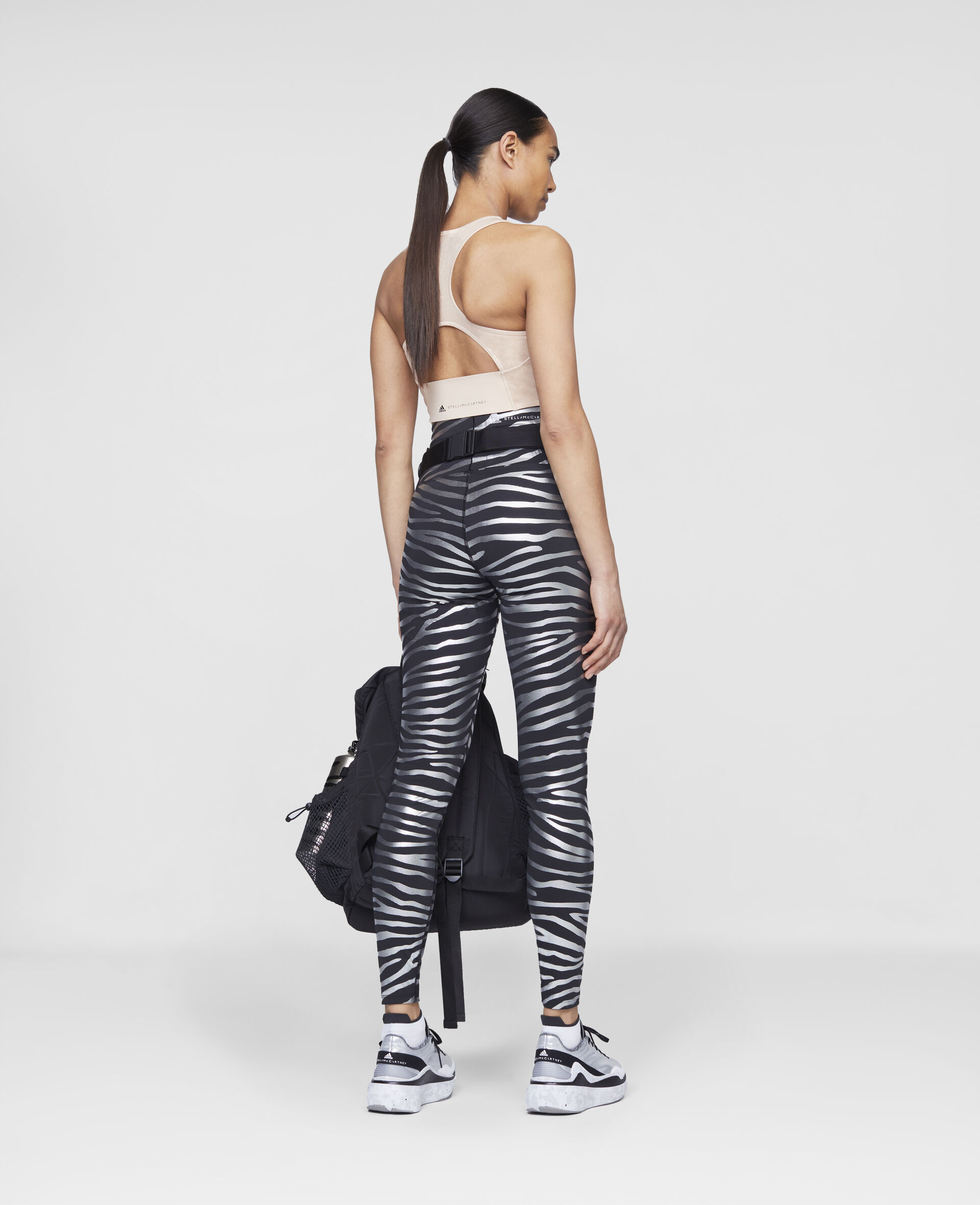 Printed Running Tights-Multicolour-large image number 2