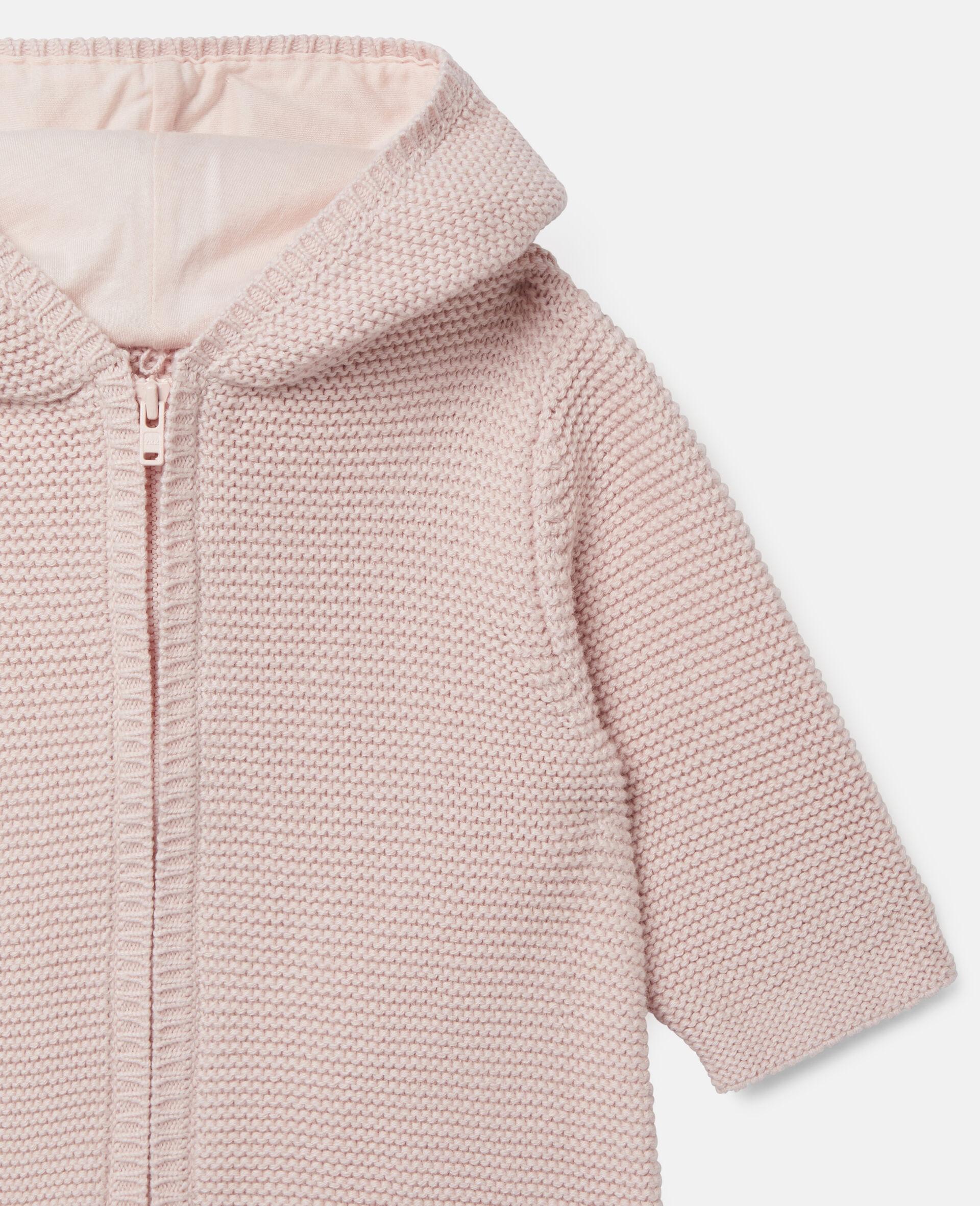 Doggie Knit Jumpsuit-Pink-large image number 1